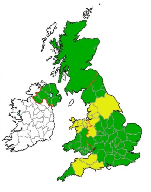 Map of HexCam's UK drone operator coverage.