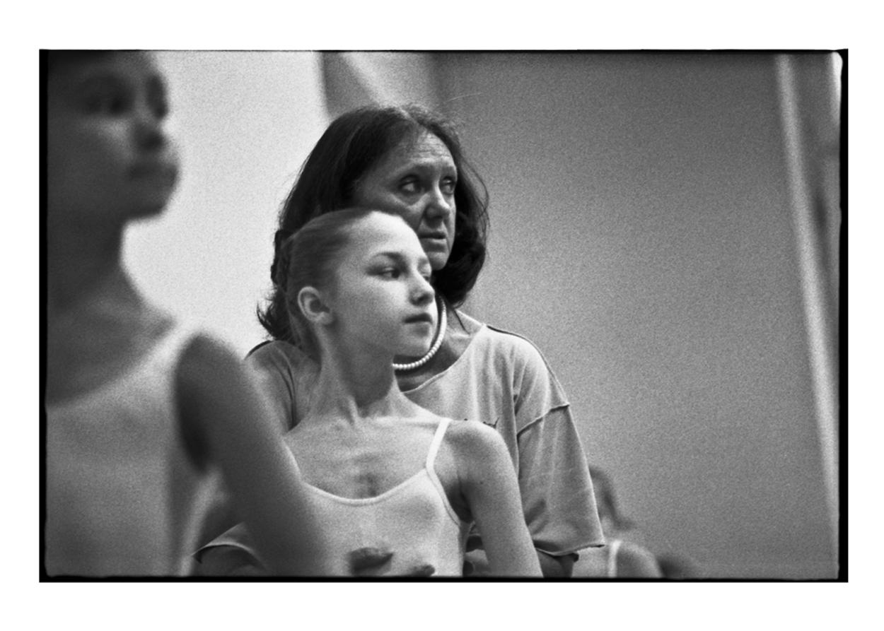 Tatiana receiving corrections from her ballet teacher.