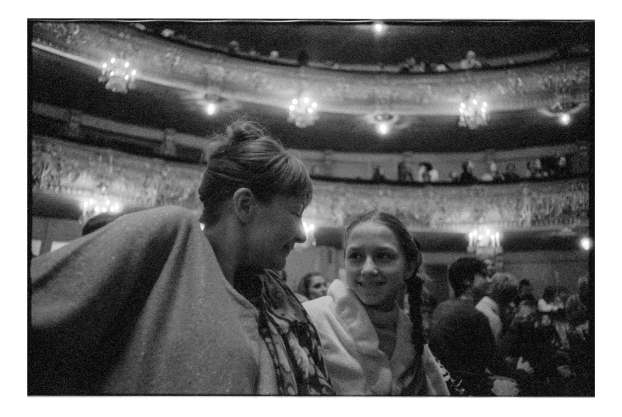 Ekaterina and Tatiana enjoying a ballet performance of the Mariinsky Ballet.