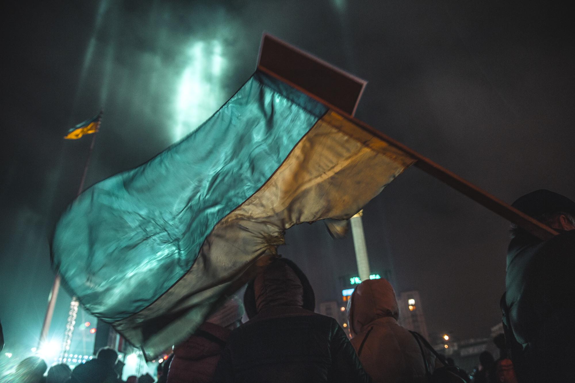 © Sam Asaert - Ukrainian Flag at Maidan 2015