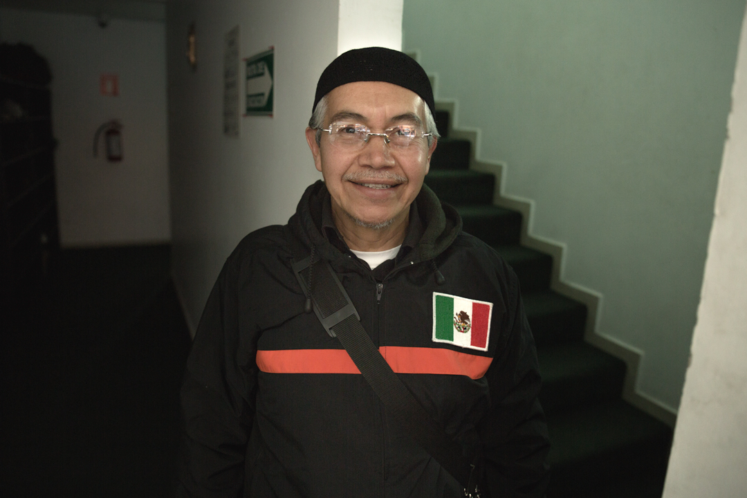 A truly proud Mexican Muslim greets me as I finally enter the mosque.