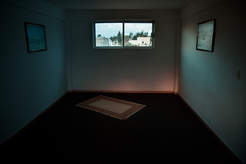 The women's prayer room on the top floor of the Al Hikmah center.