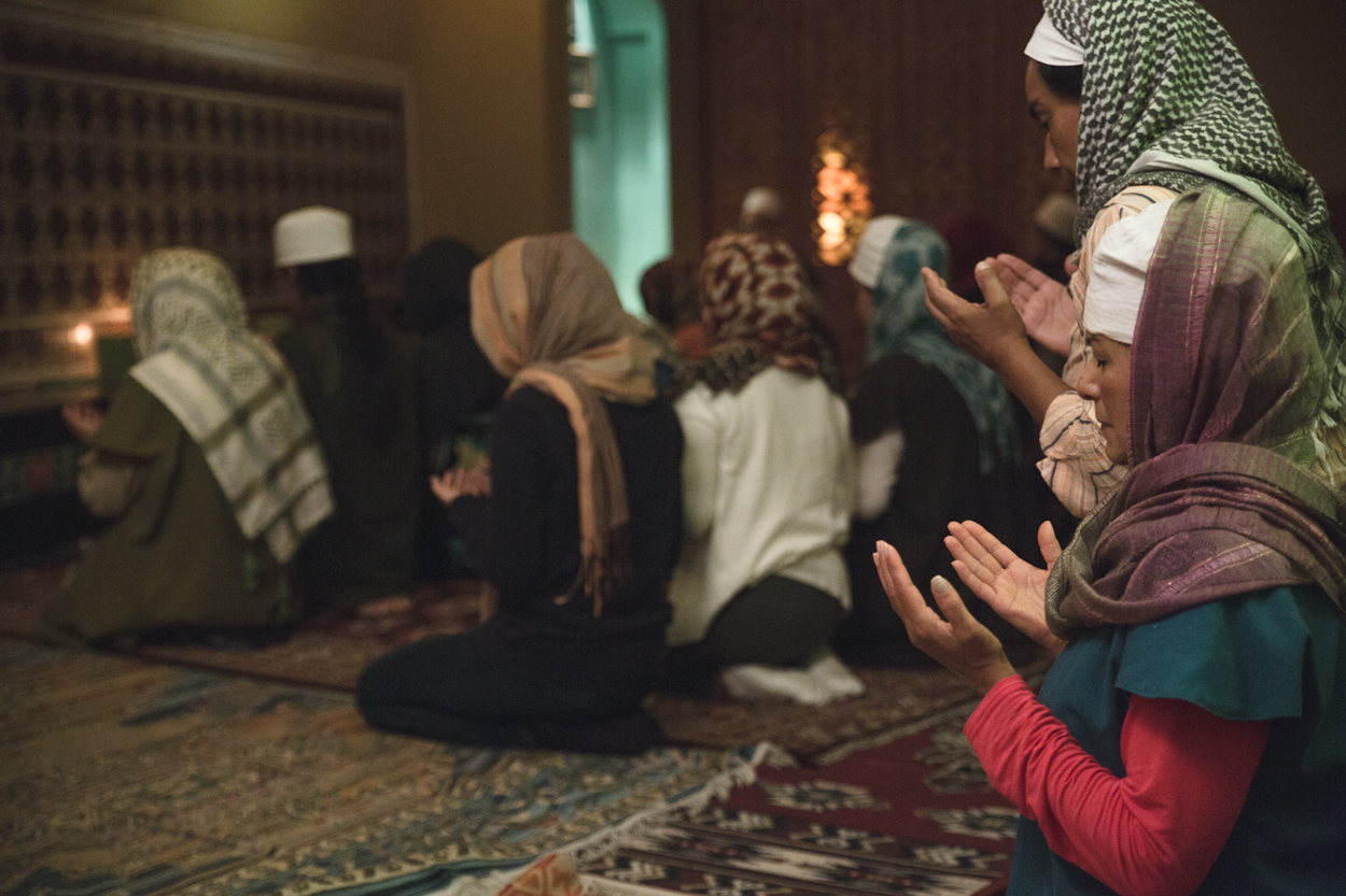 Men and women pray together in the Sufi order of Mexico City.