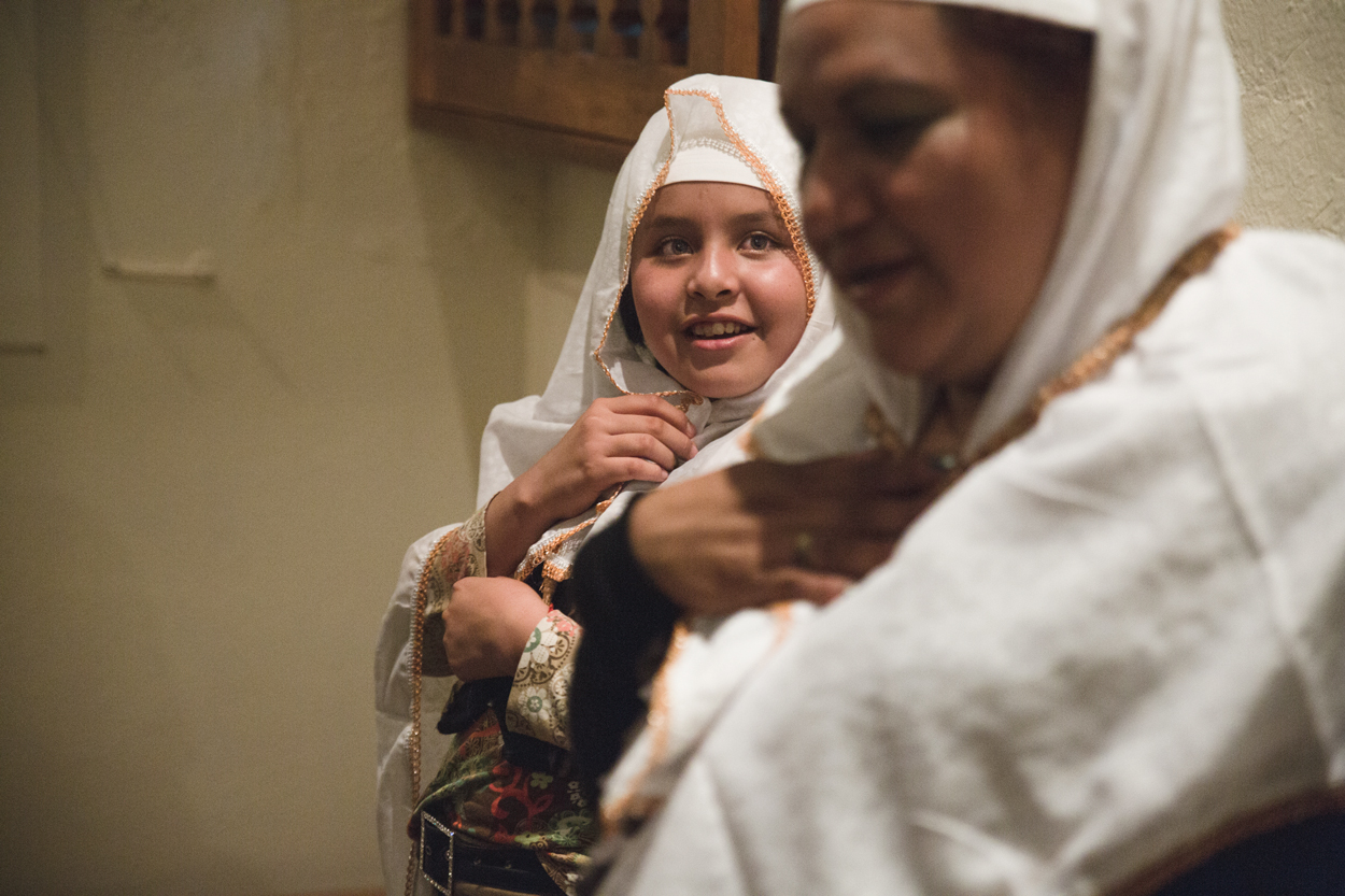 Vivian looks at her aunt, shortly after her own conversion to Islam.