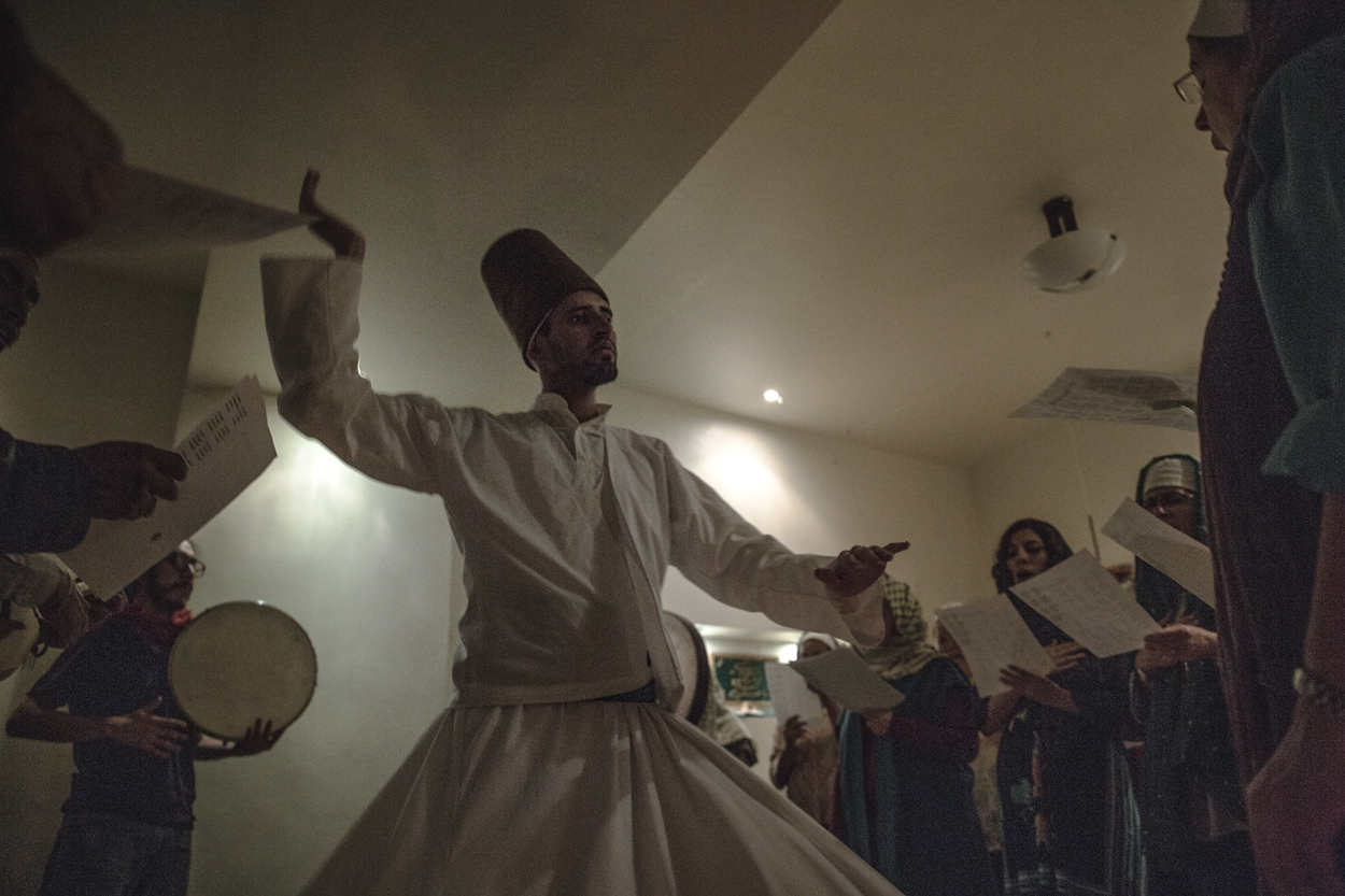 Accompanied by chanting and music, a Mexican dervish twirls into the early morning.