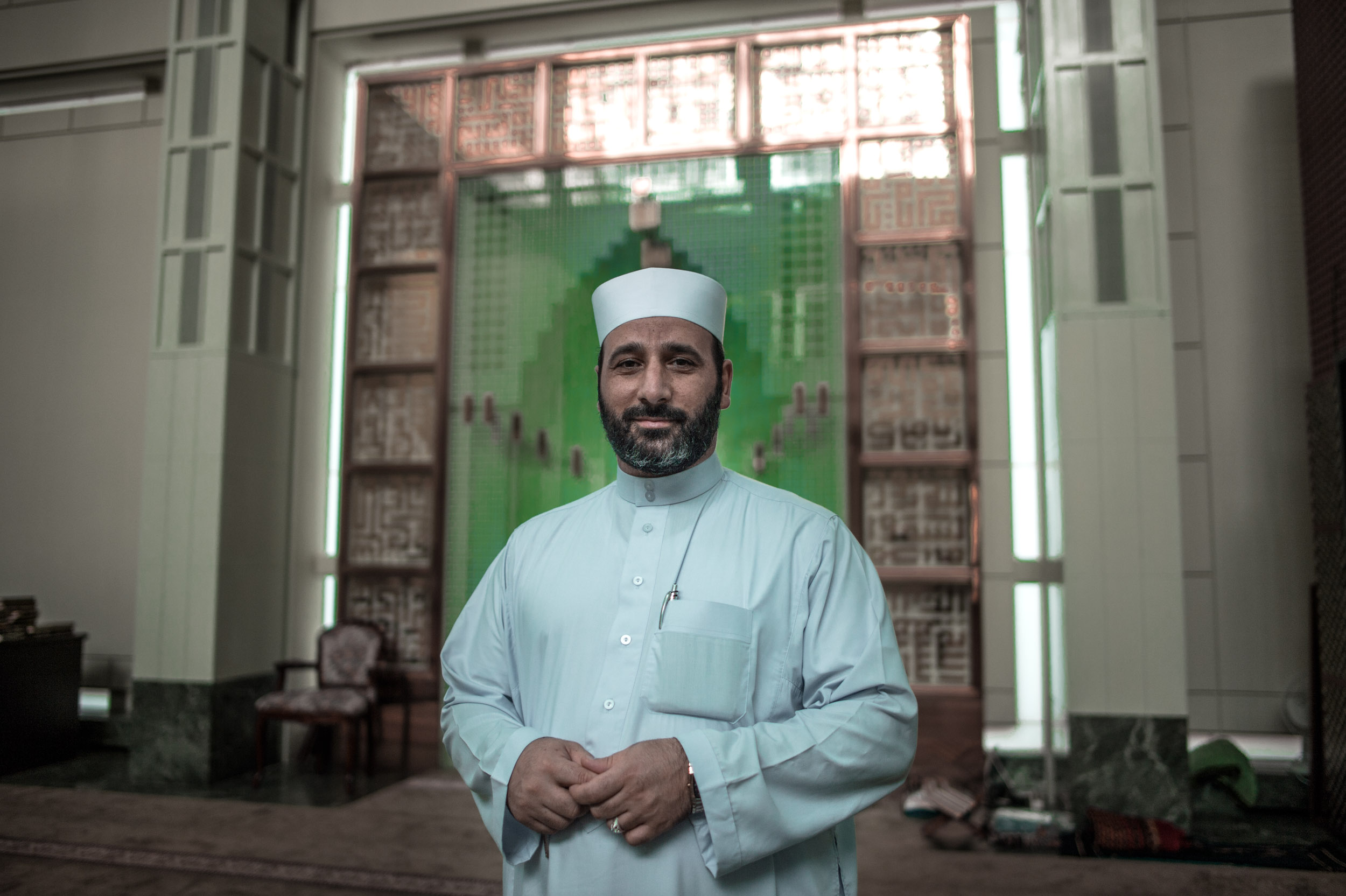 Sheik Waleed Elbaktrawish , the Imam of the biggest Mosque in Manhattan - the Islamic Cultural Center on 92nd Street.