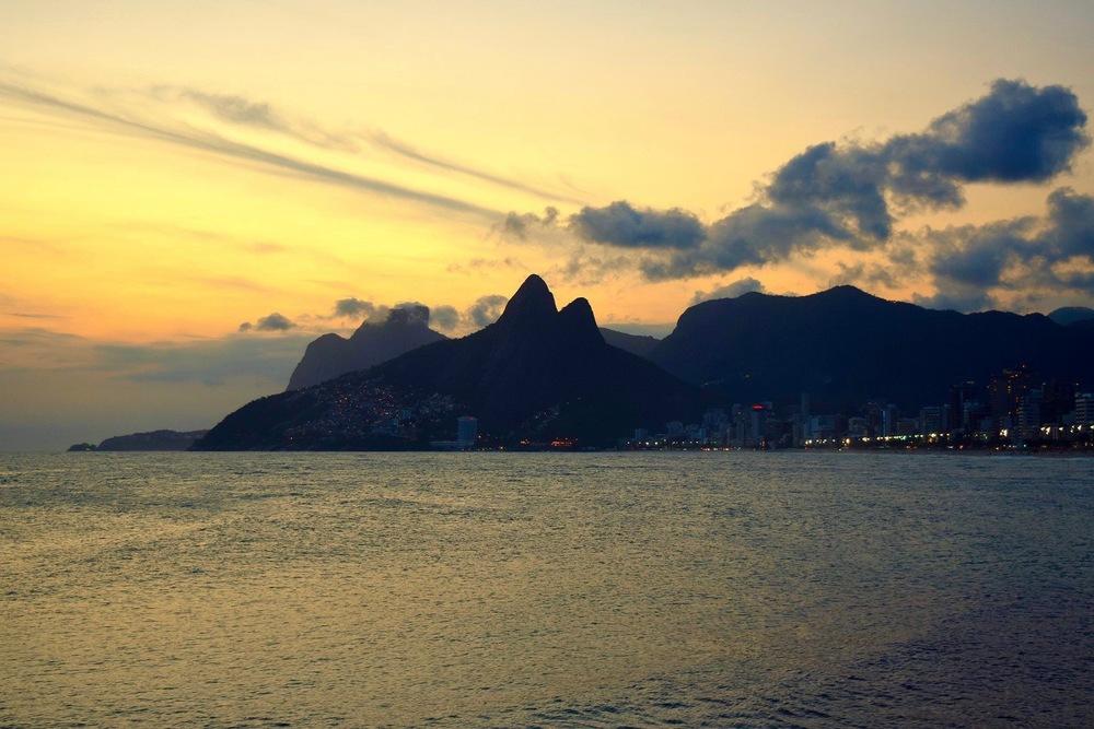 Sunset of Rio from Copacabana
