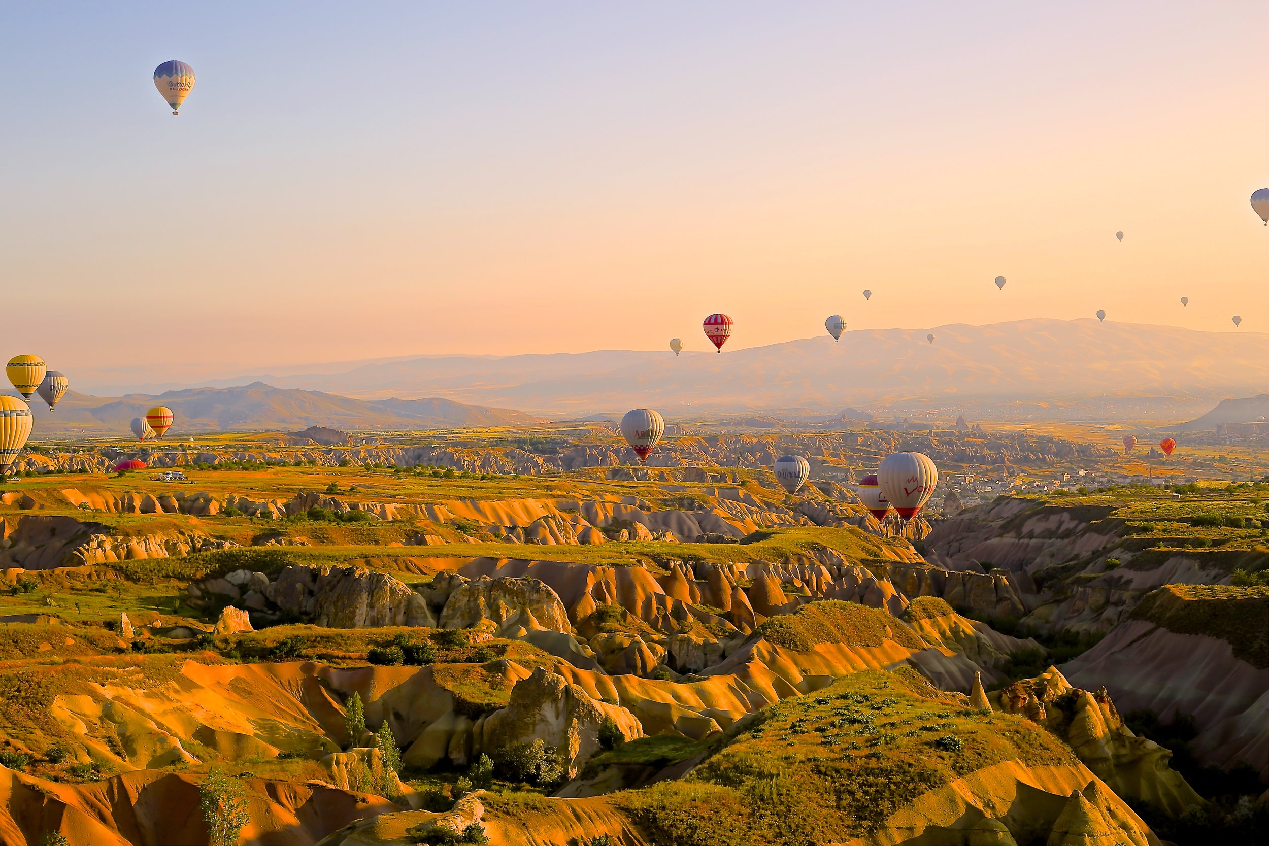 View of Göreme from a hot air balloon