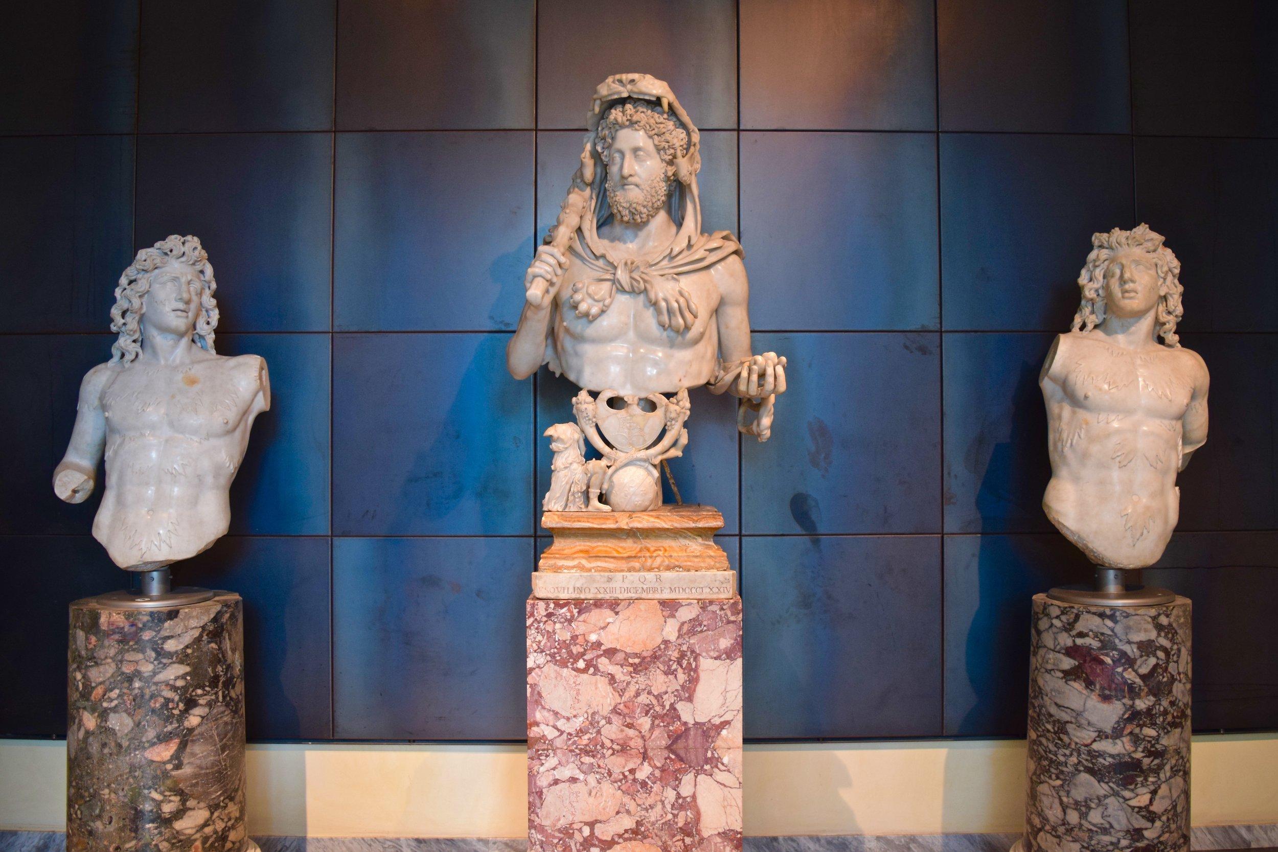 Busto de Cómodo como Hércules