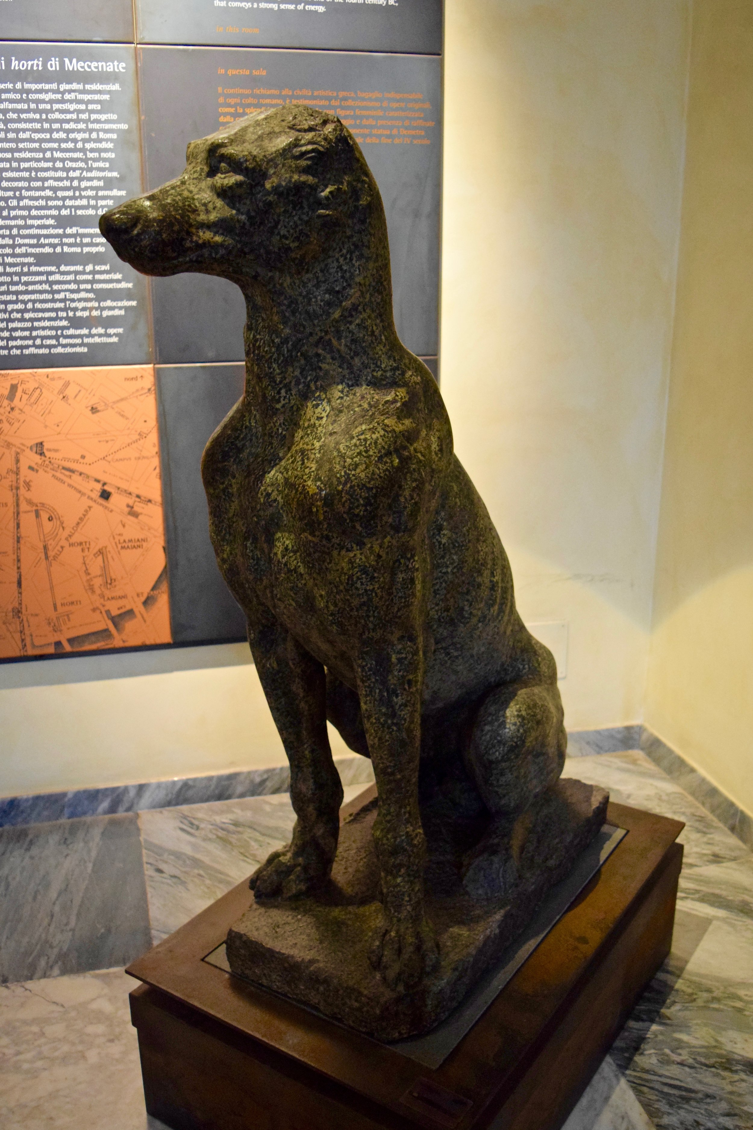 Statue of a dog
