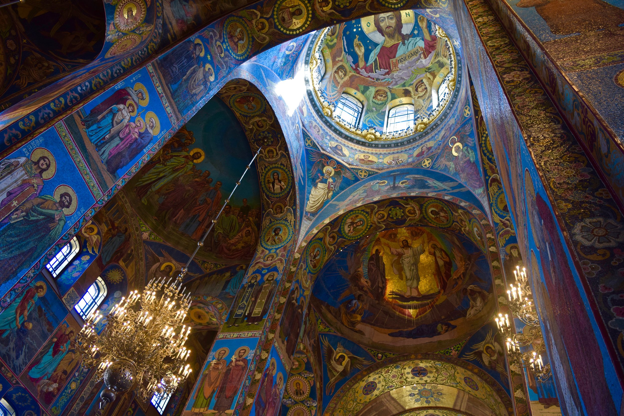 Saviour on the Spilled Blood, interior