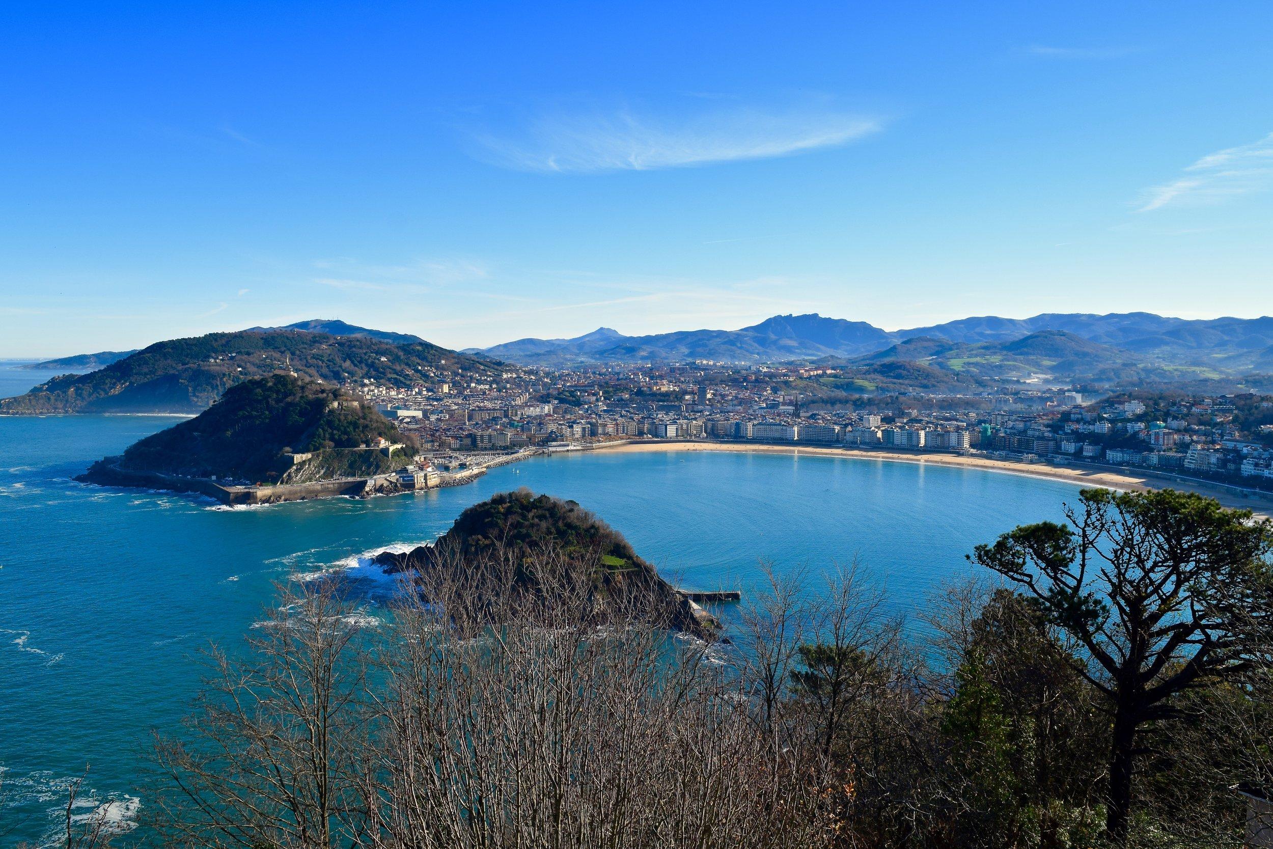 View of San Sebastián from Mount Igueldo