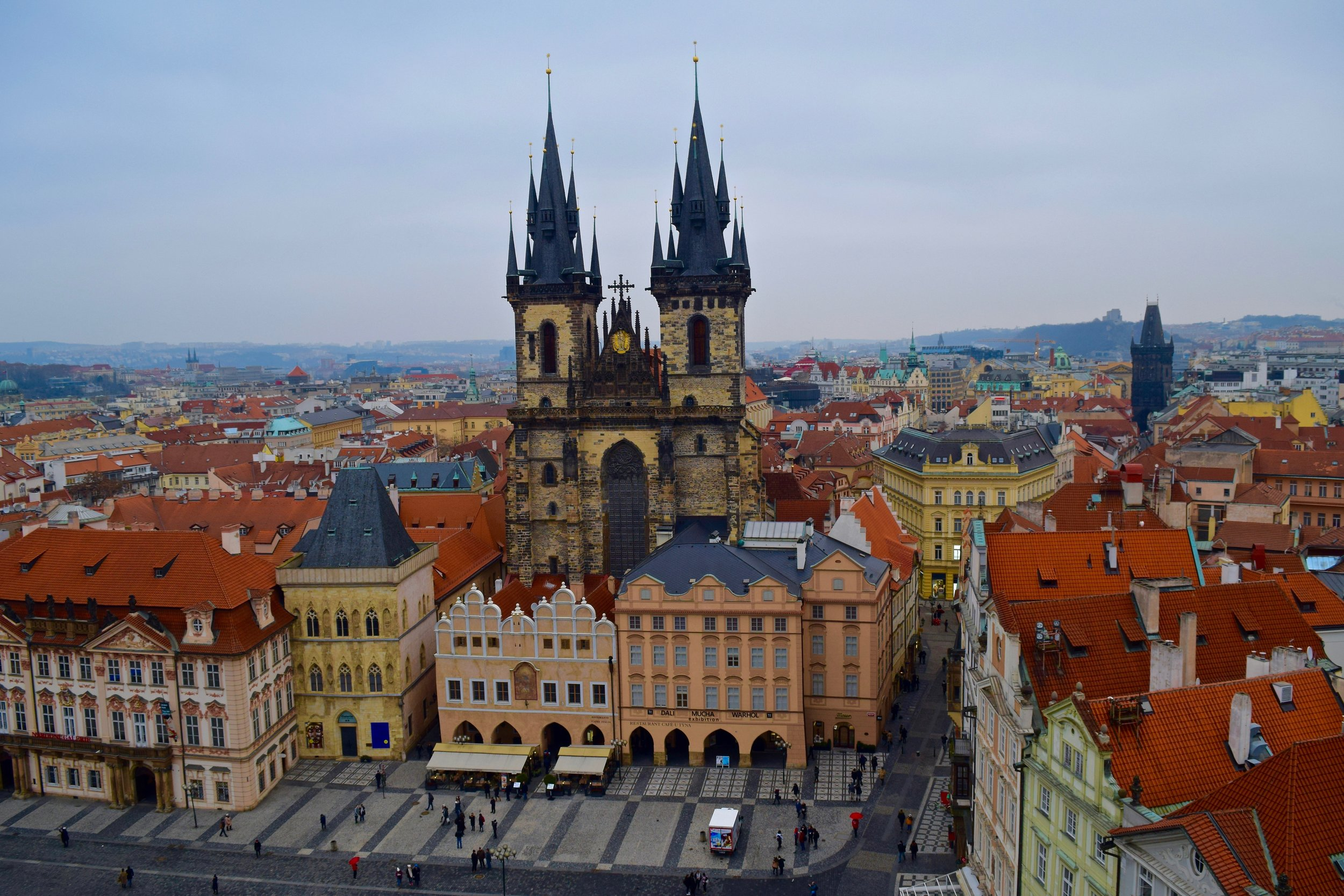 View of the Church of Our Lady before Týn and Old Town Square