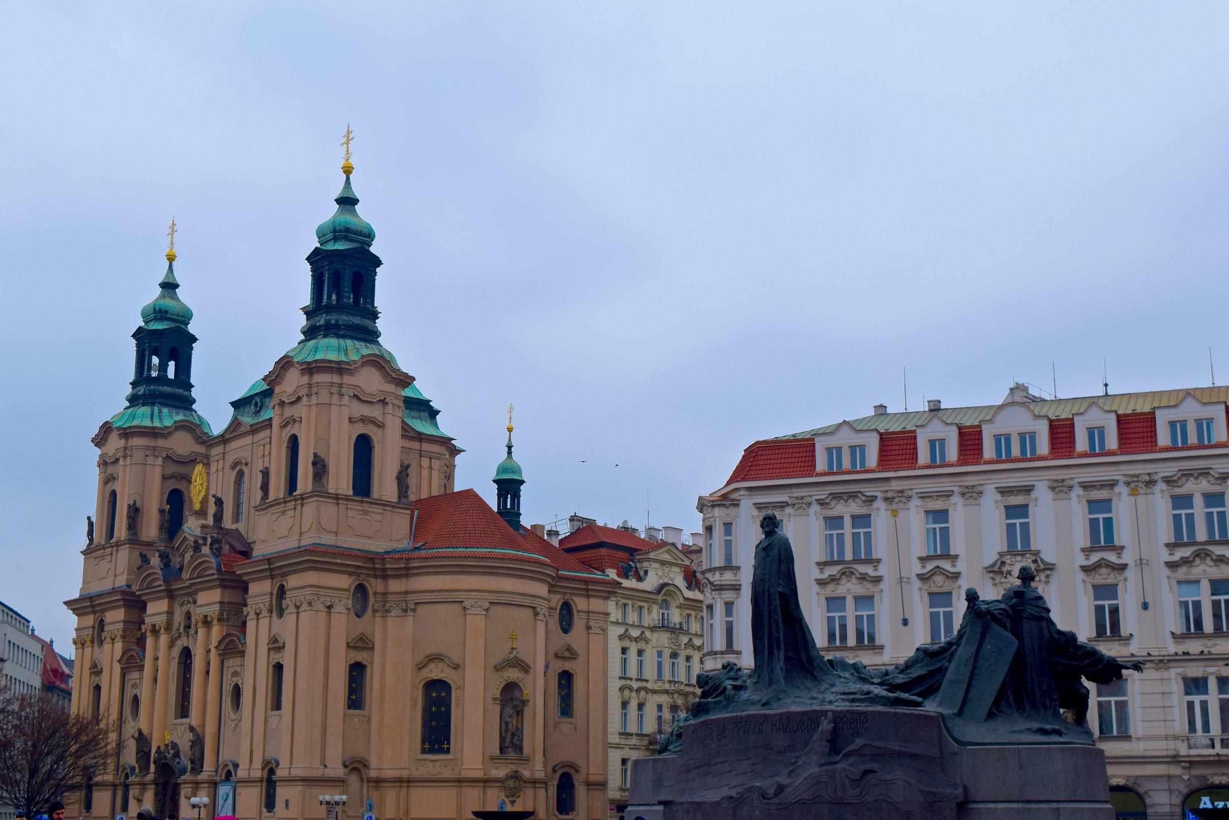 St. Nicholas Church & Jan Hus Monument