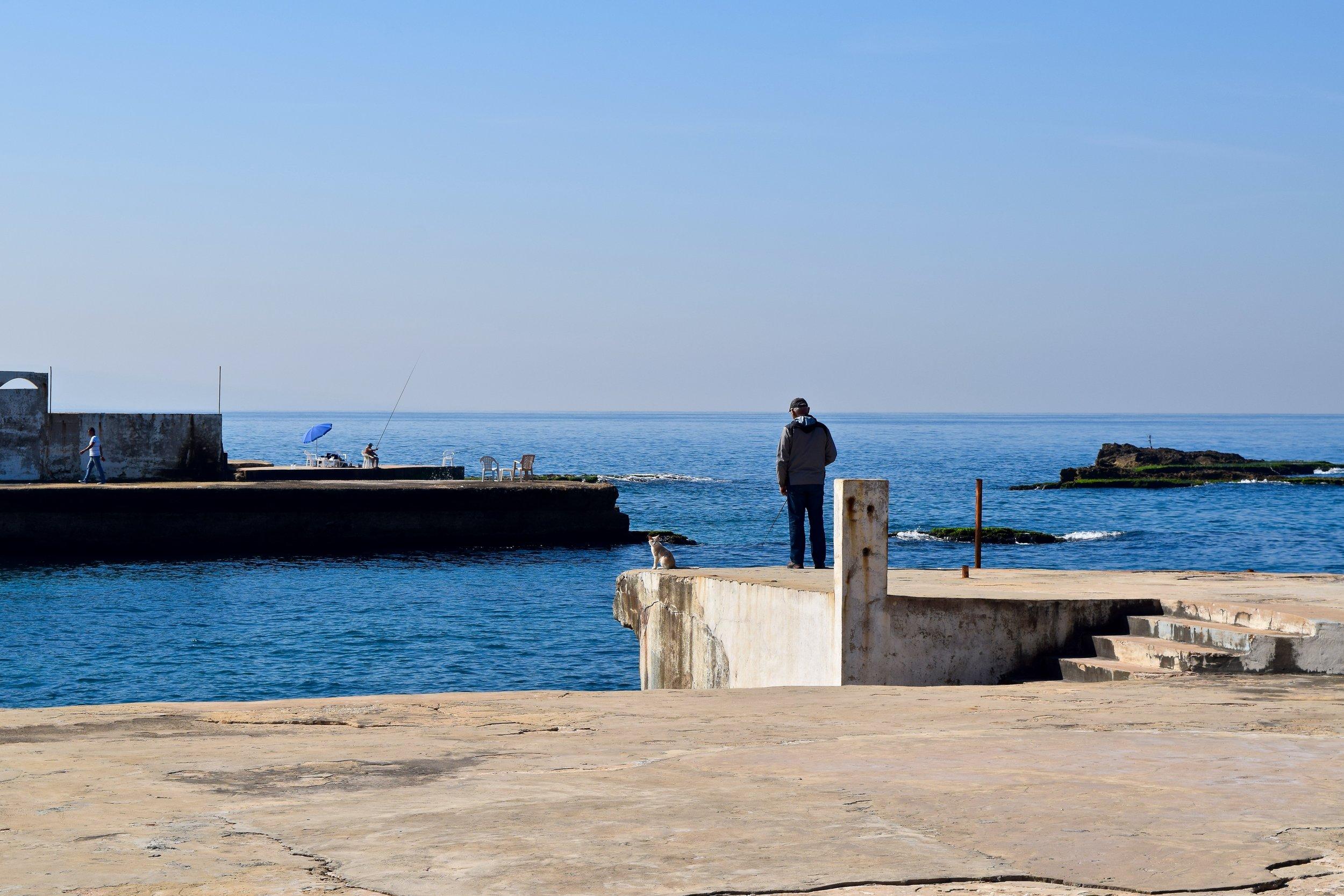 Local man fishing