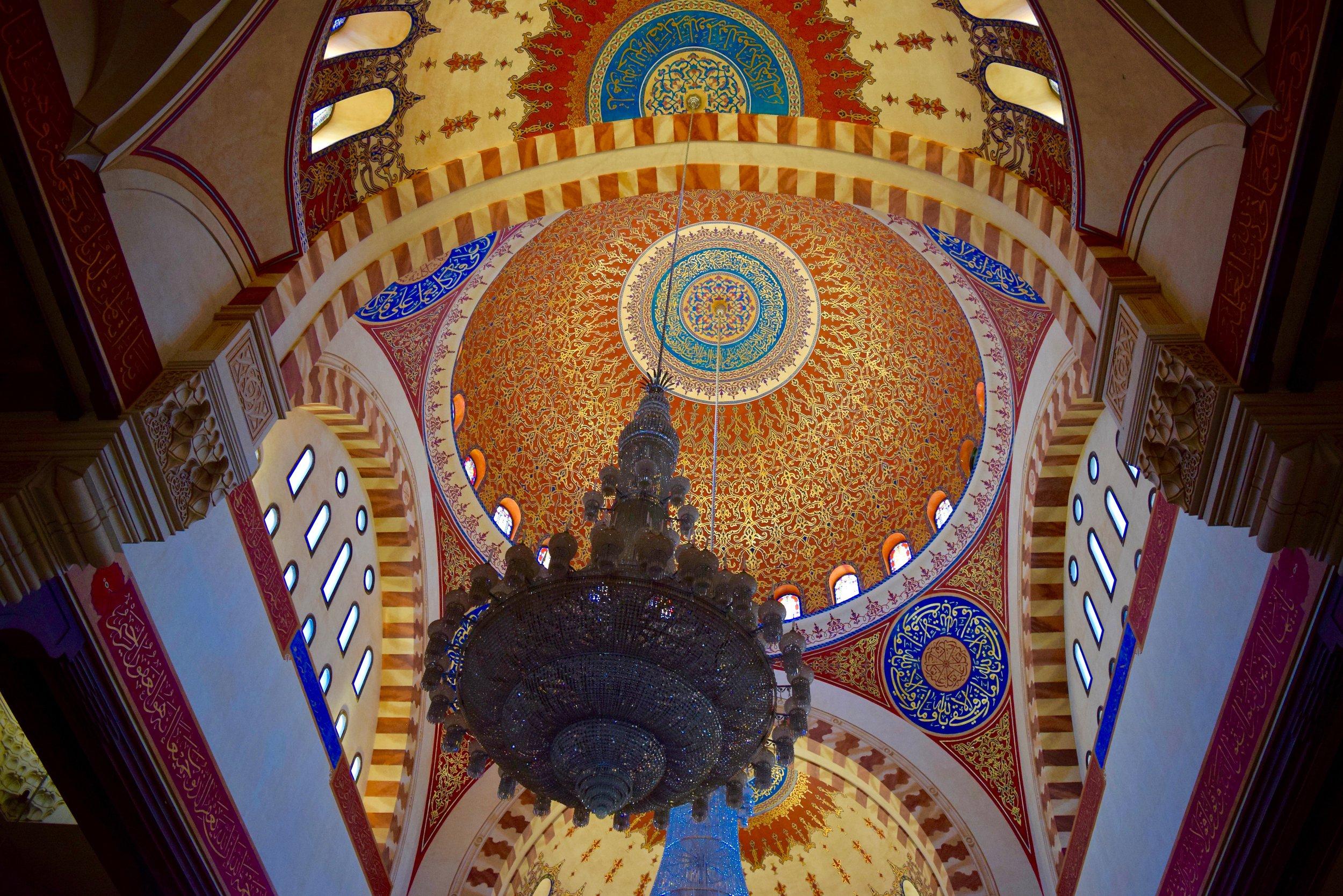 Interior of the Mohammad Al-Amin Mosque