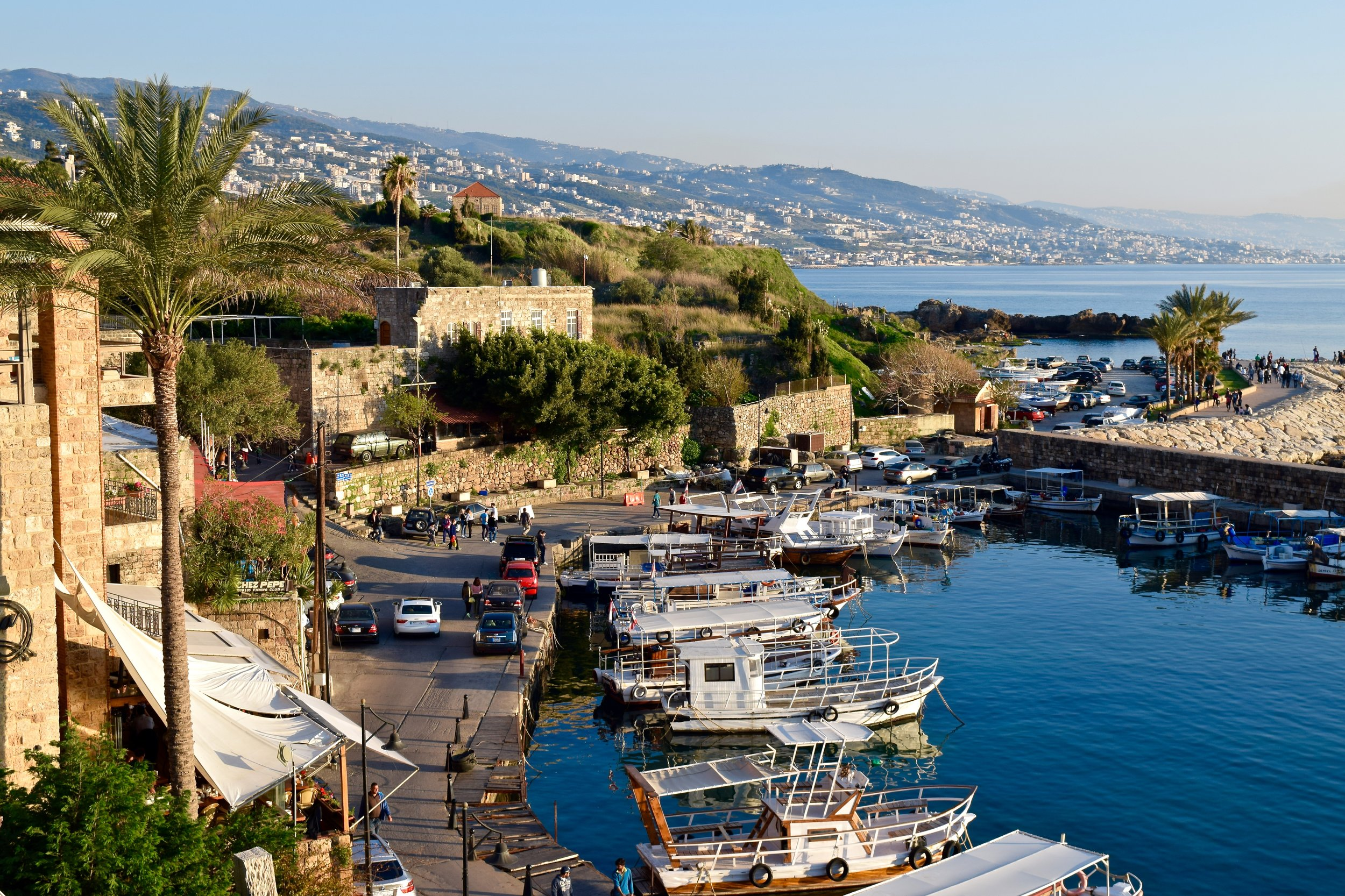 View of Byblos harbour from the top