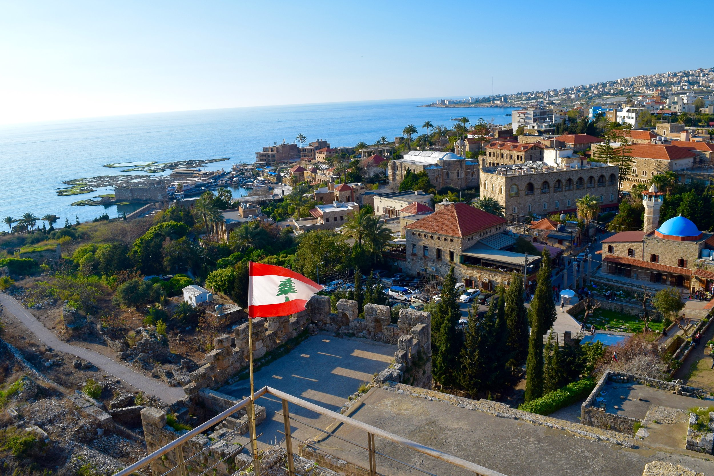 Views of Byblos from the castle