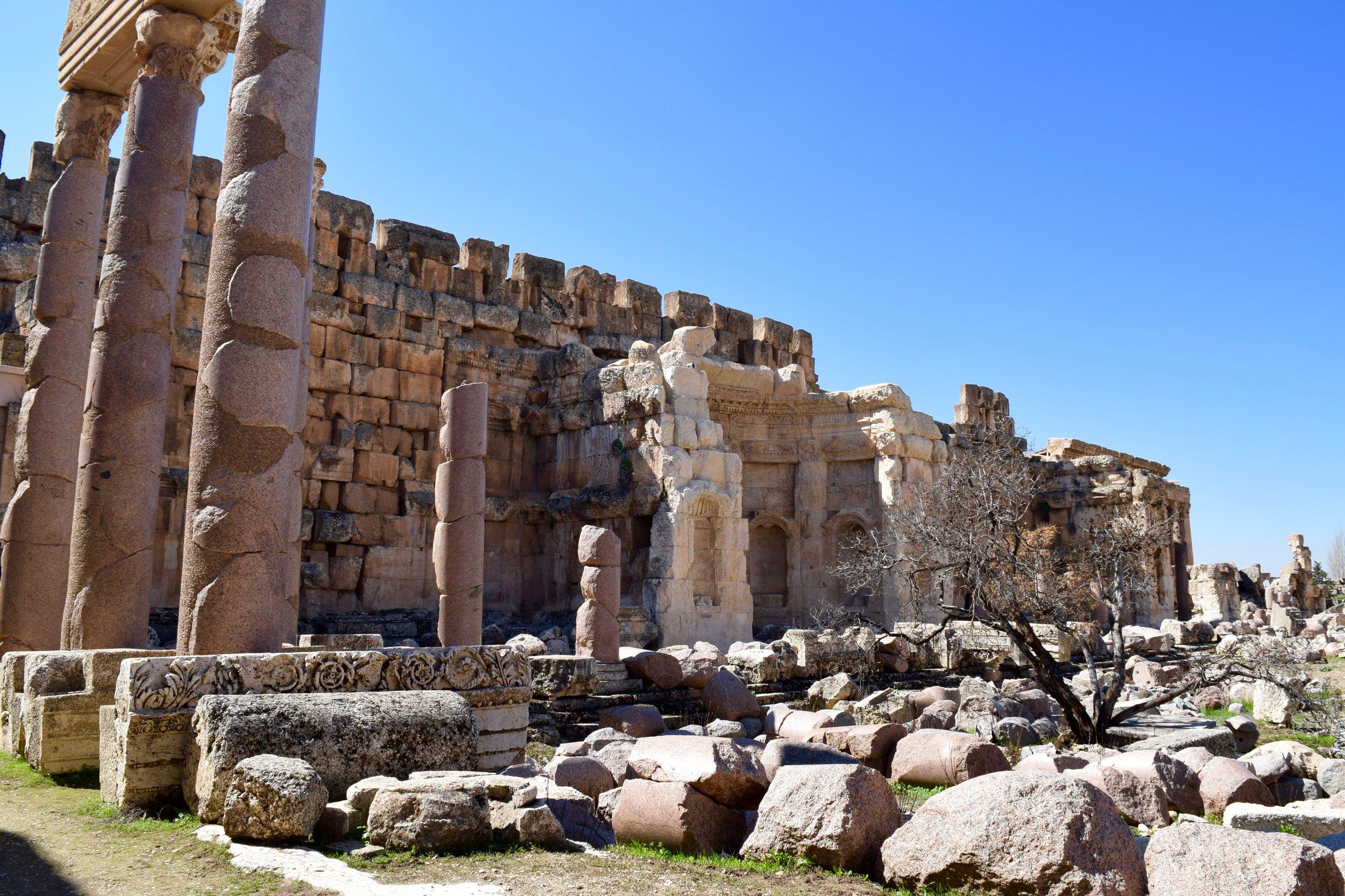 Portico in the Great Courtyard, Baalbek
