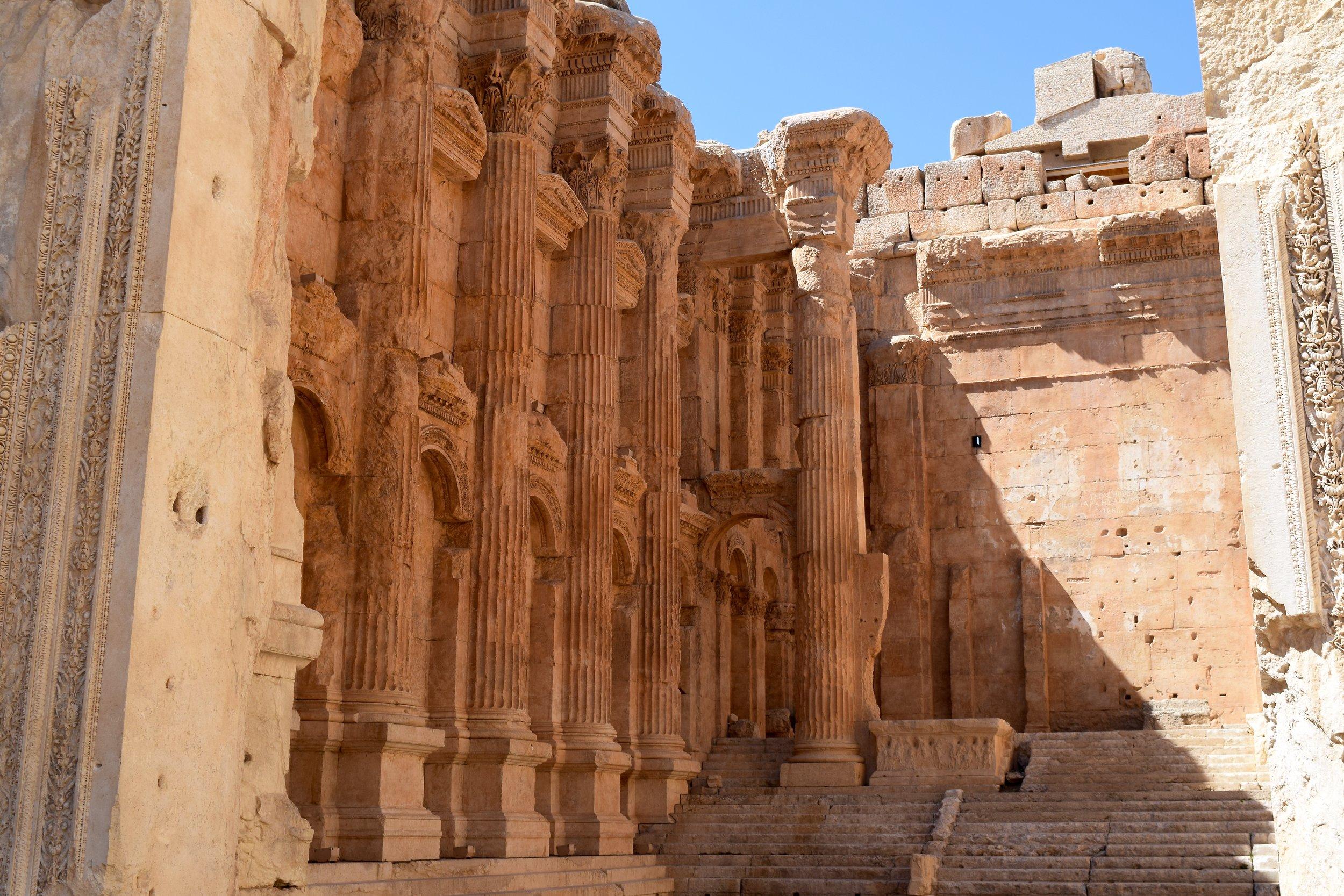 Inside of the Temple of Bacchus, Baalbek