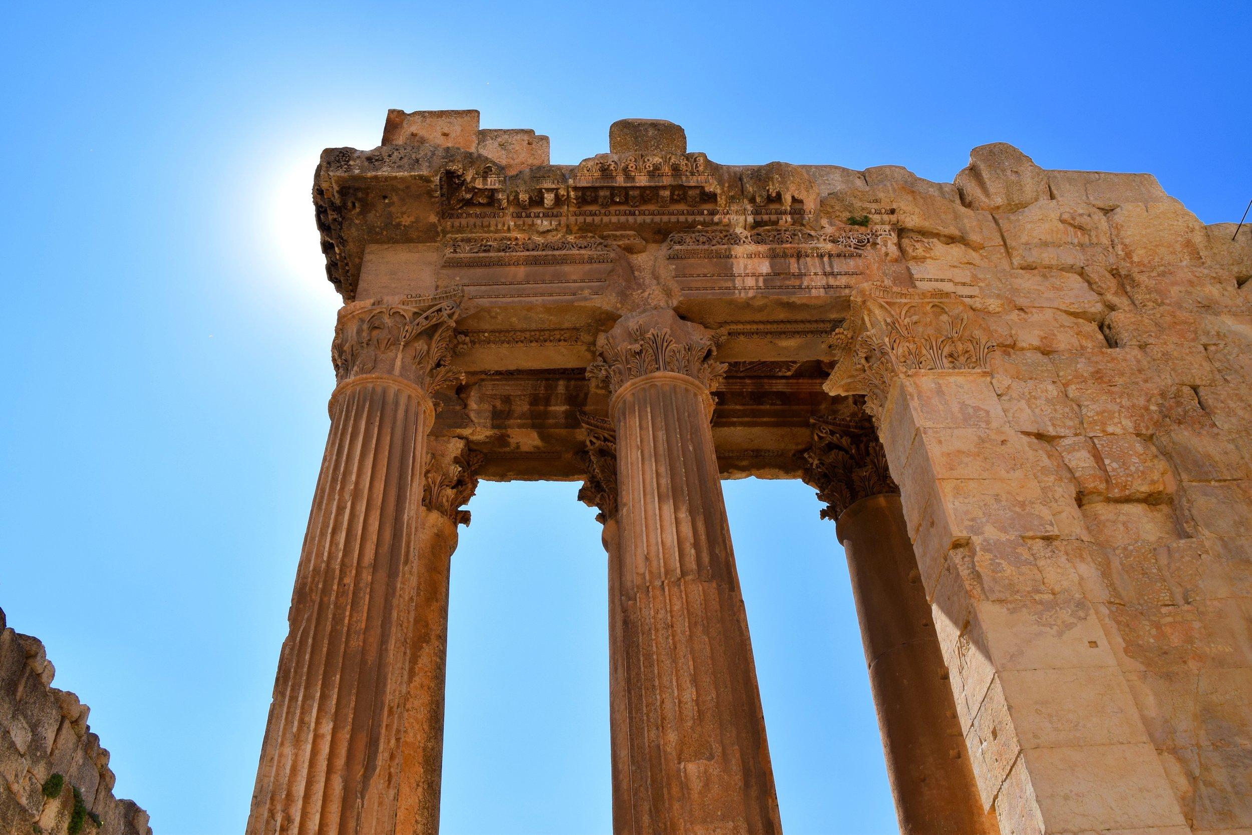Columns of a Roman temple, Baalbek