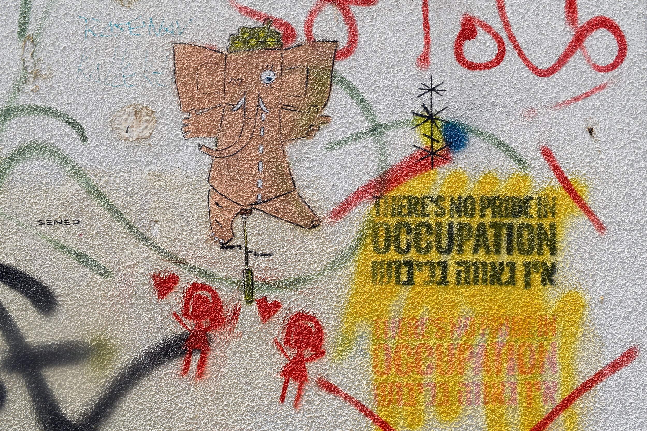 Graffiti against the occupation of Palestine