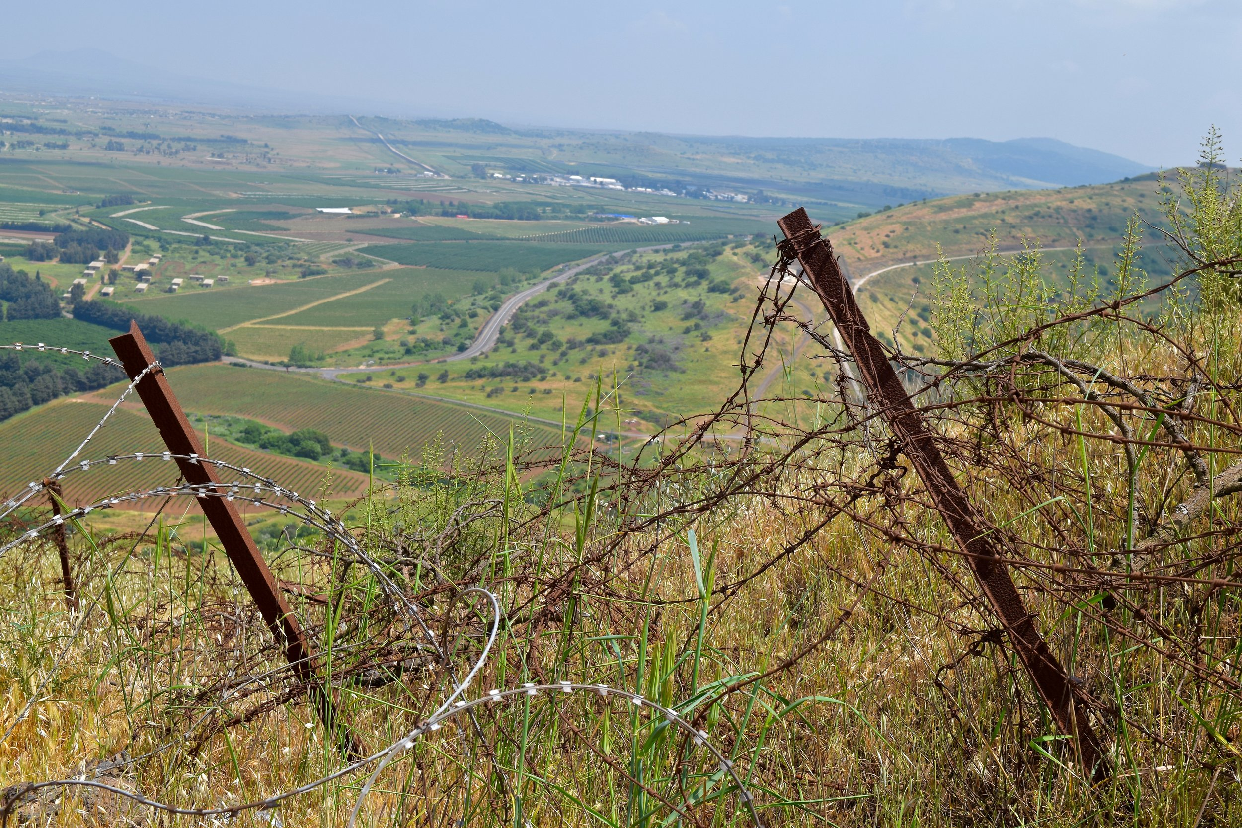 Barbed wire in Mount Bental