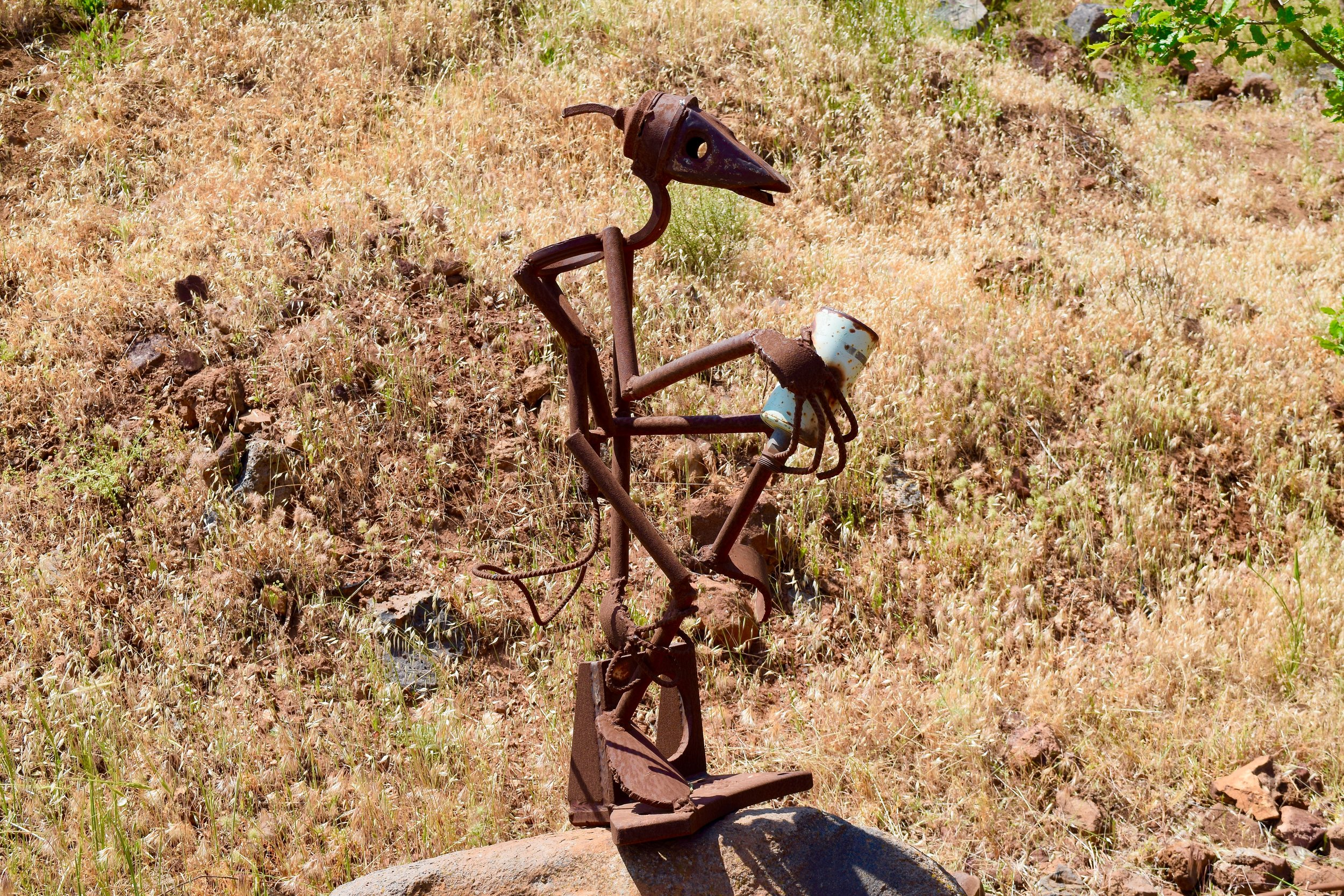 Art Mount Bental Golan Heights Israel Syria
