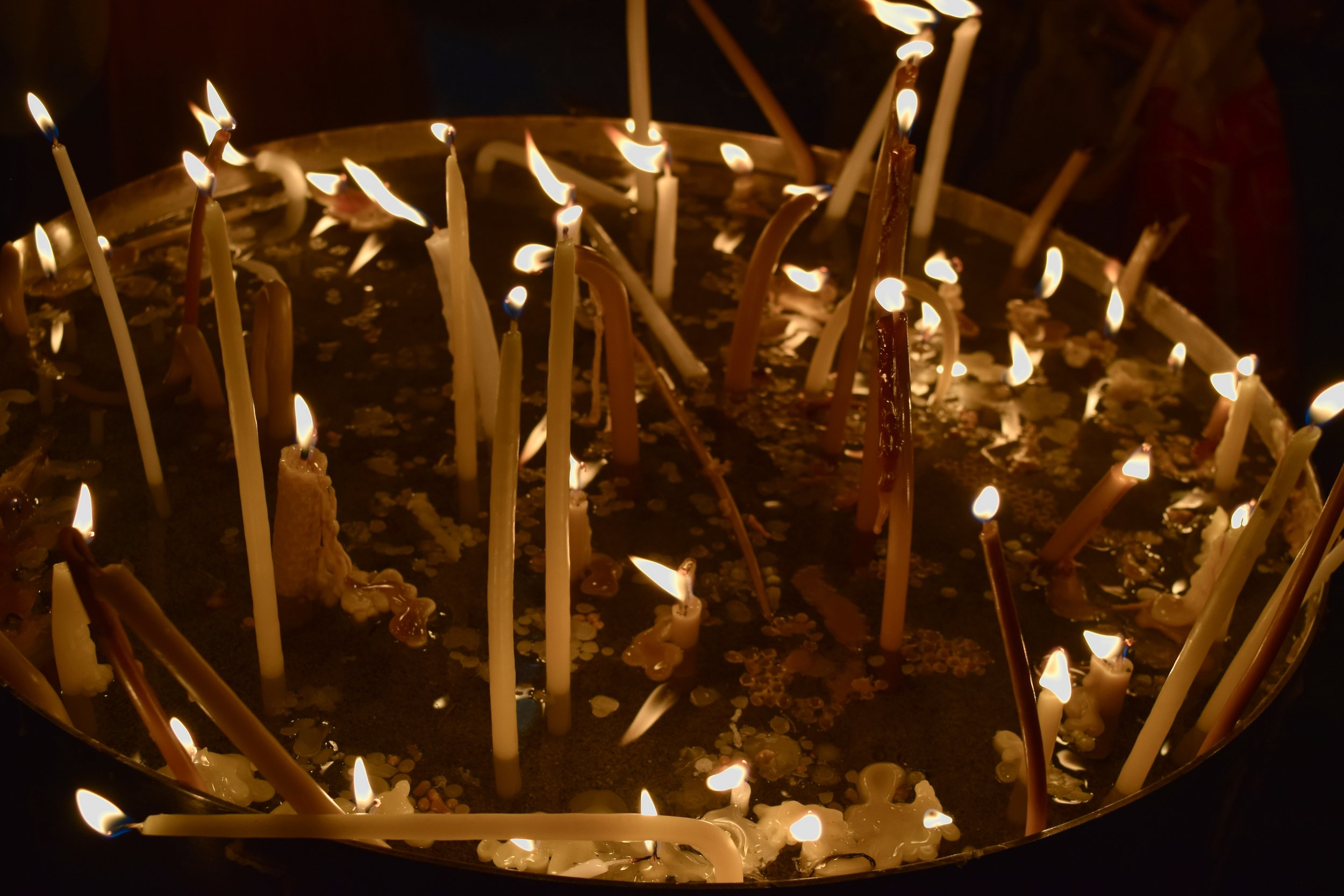 Candles at the Tomb of the Holy Sepulchre