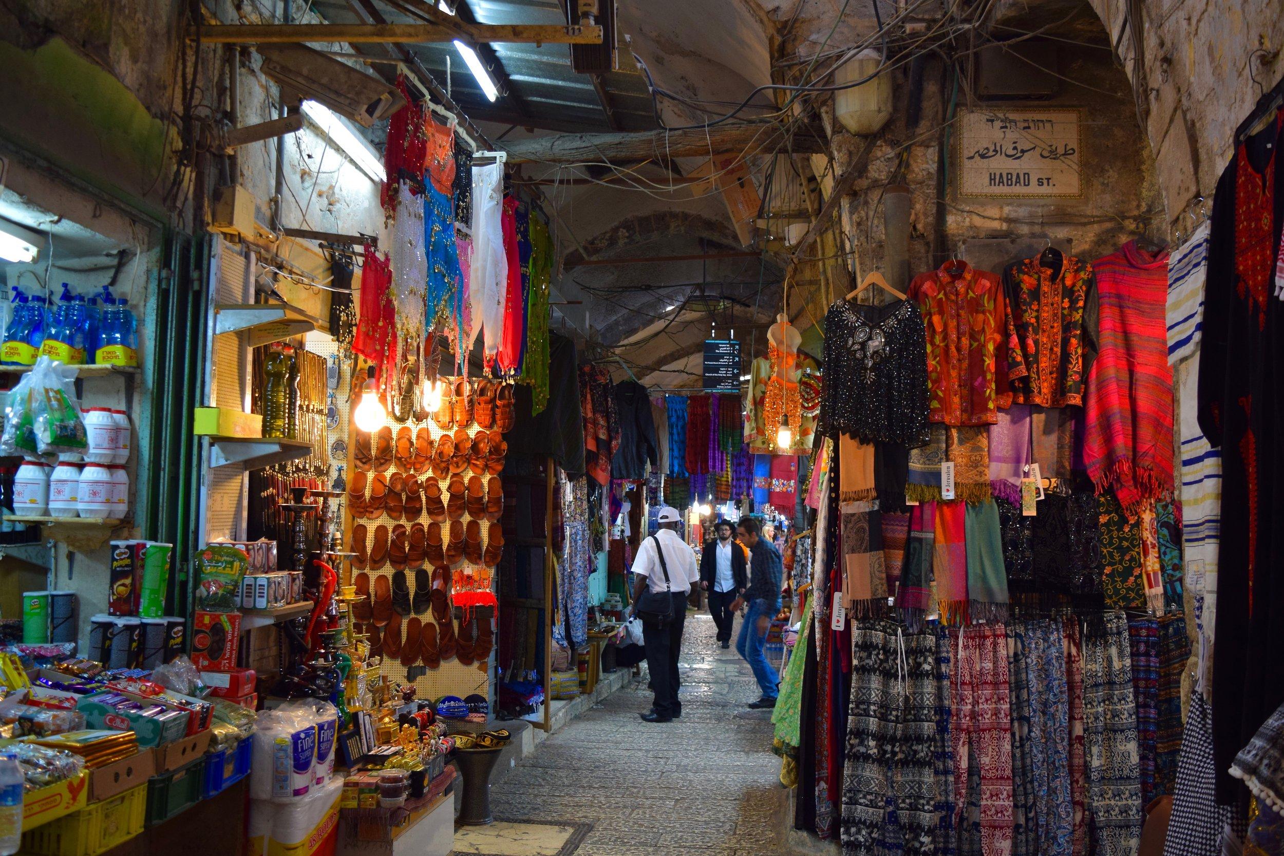 Souq in the Muslim Quarter