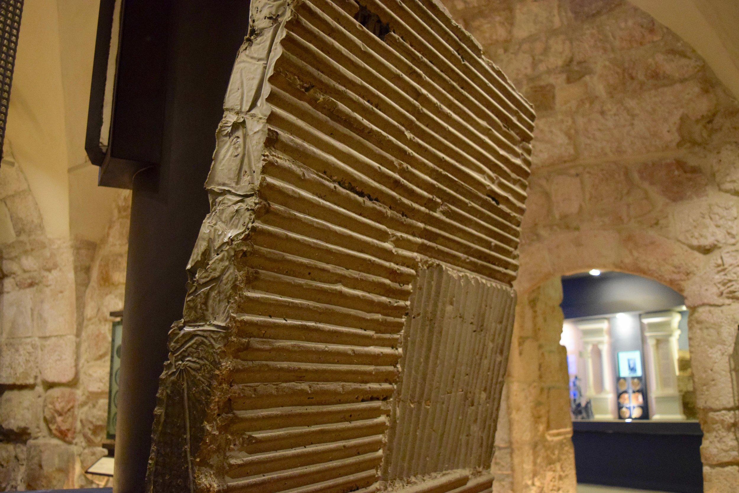 Parte del muro de cemento que dividía Jerusalén oriental y occidental
