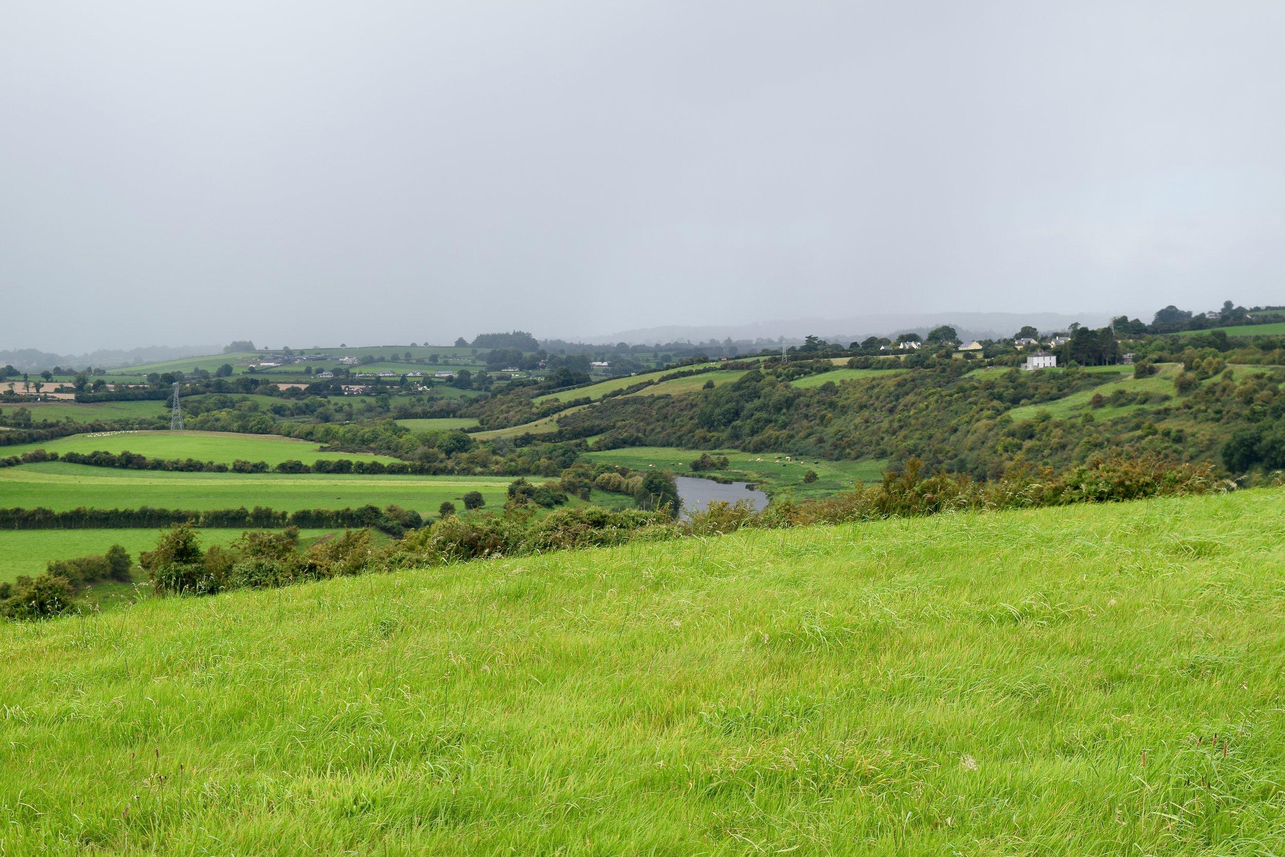 Un nublado Valle del Boyne
