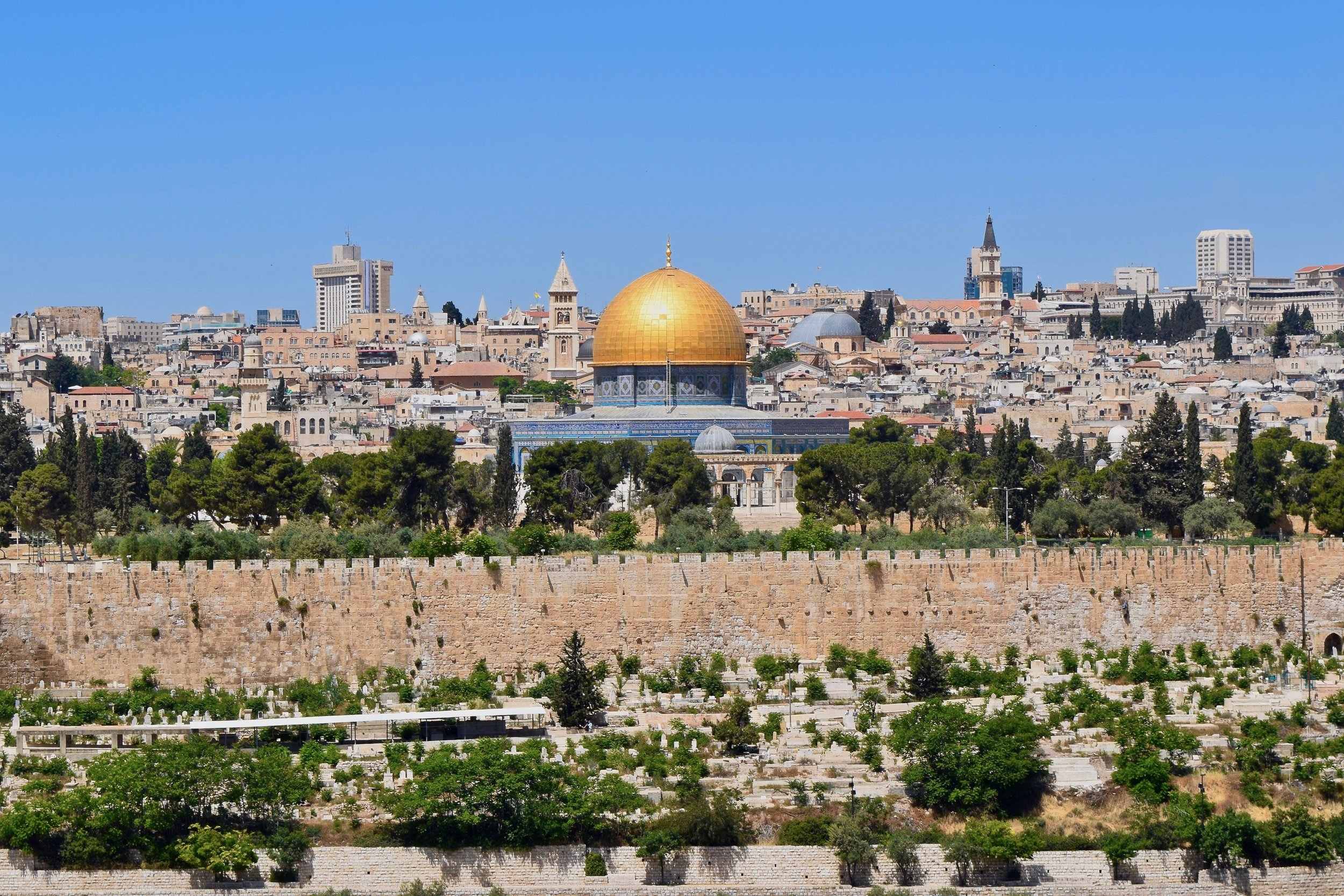 Dome of the Rock from the Mount of Olives