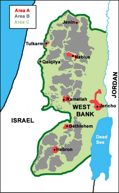 Areas of the West Bank