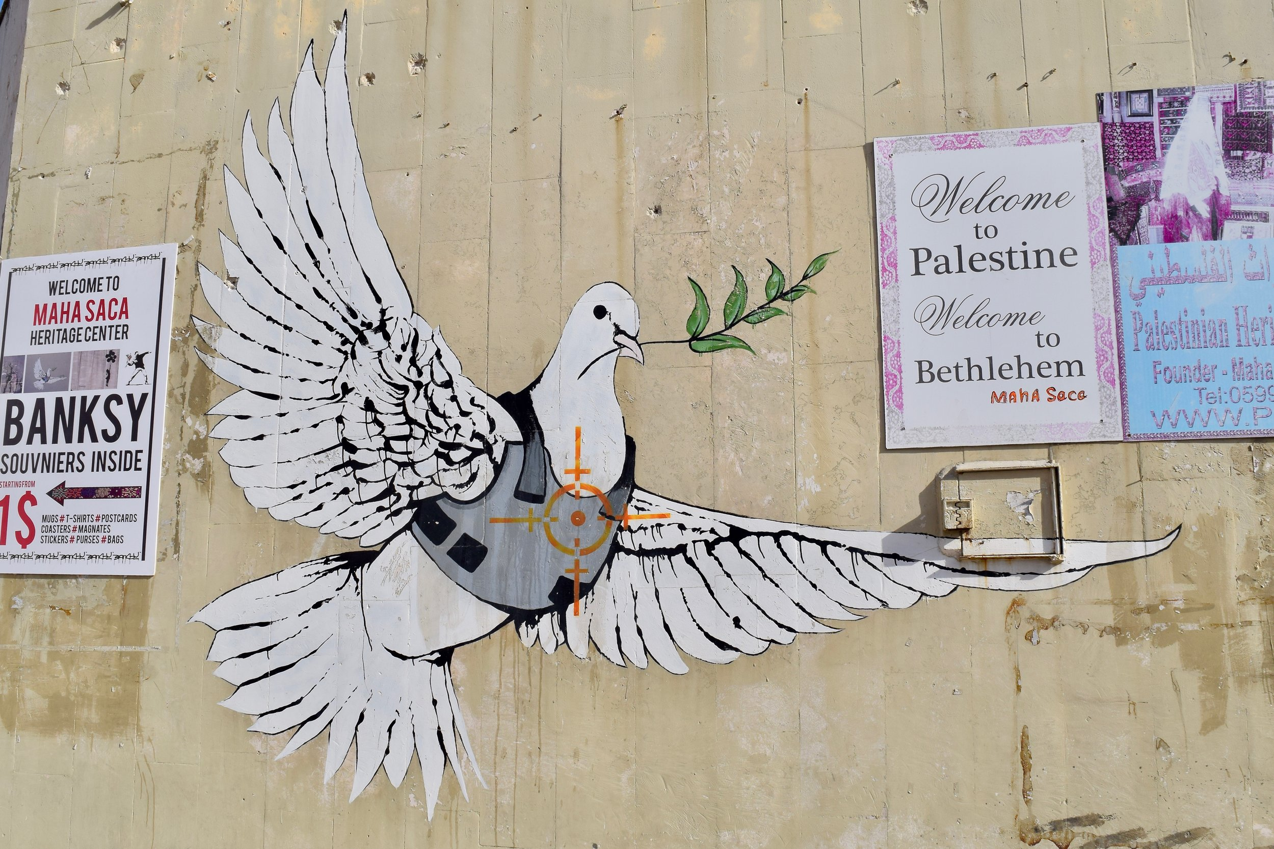 Armoured Dove of Peace by Banksy