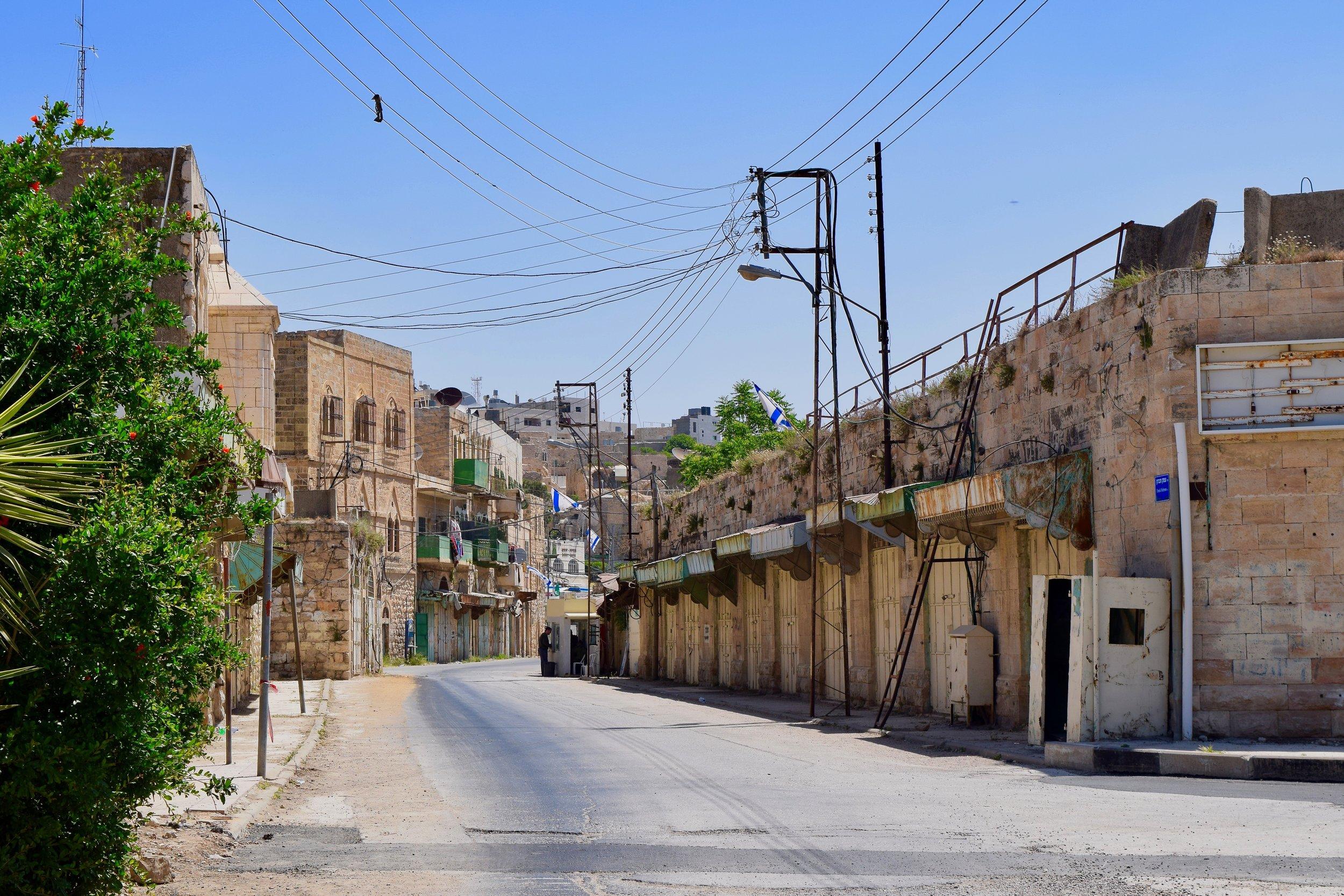 Deserted street in Hebron