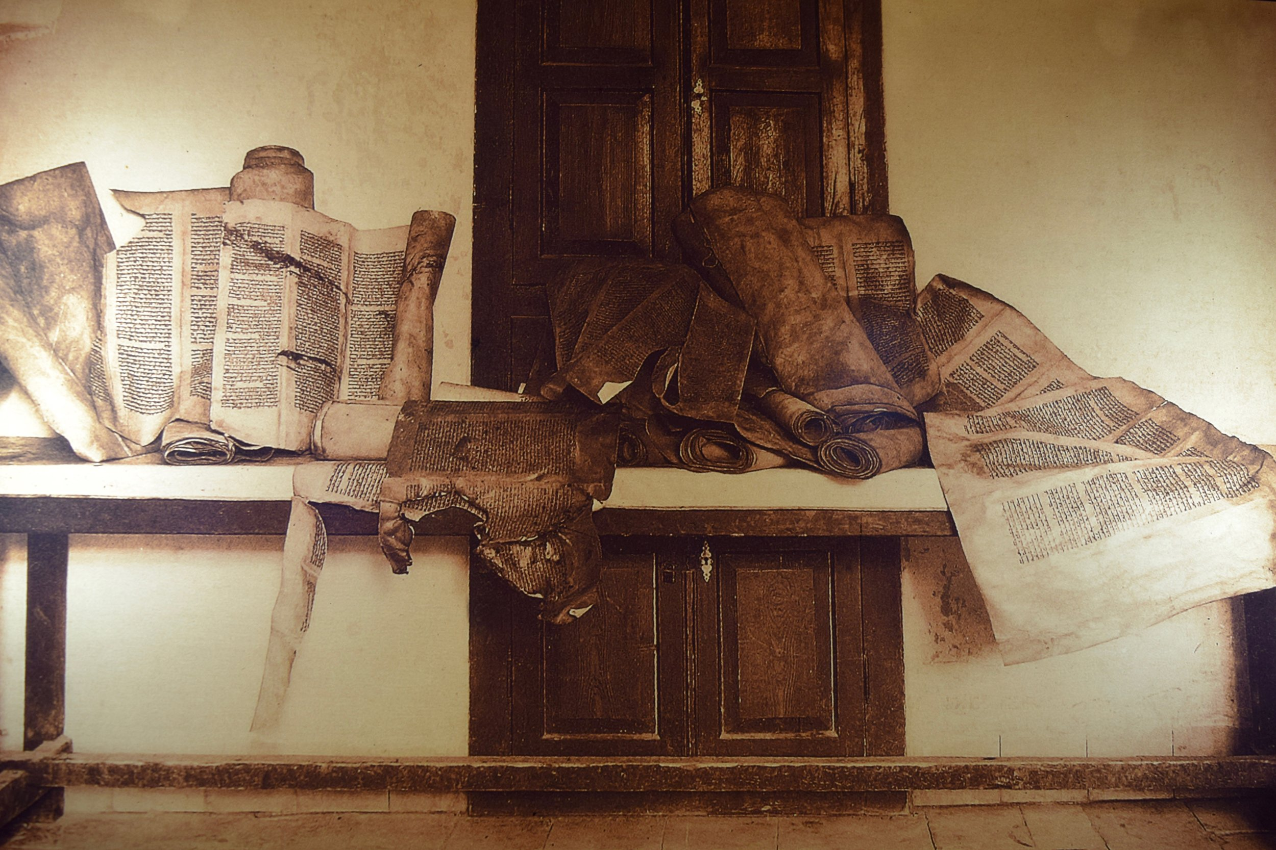 Torah scrolls damaged during the 1929 Hebron massacre