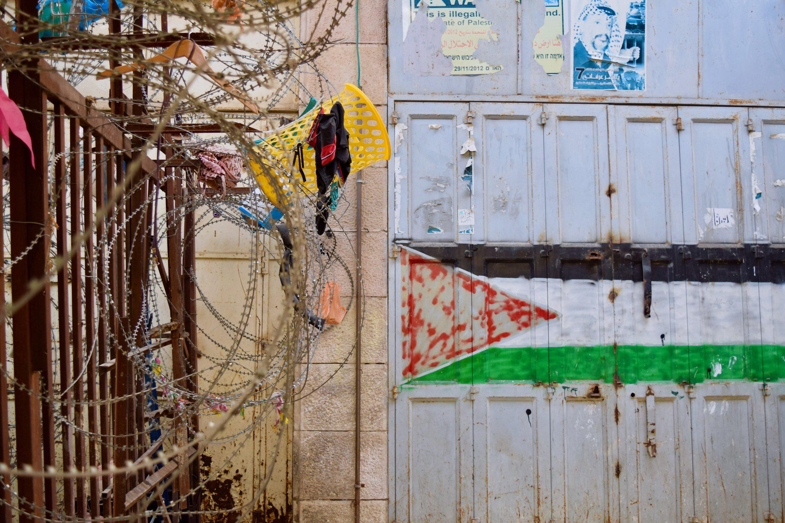 Palestinian flag, Hebron
