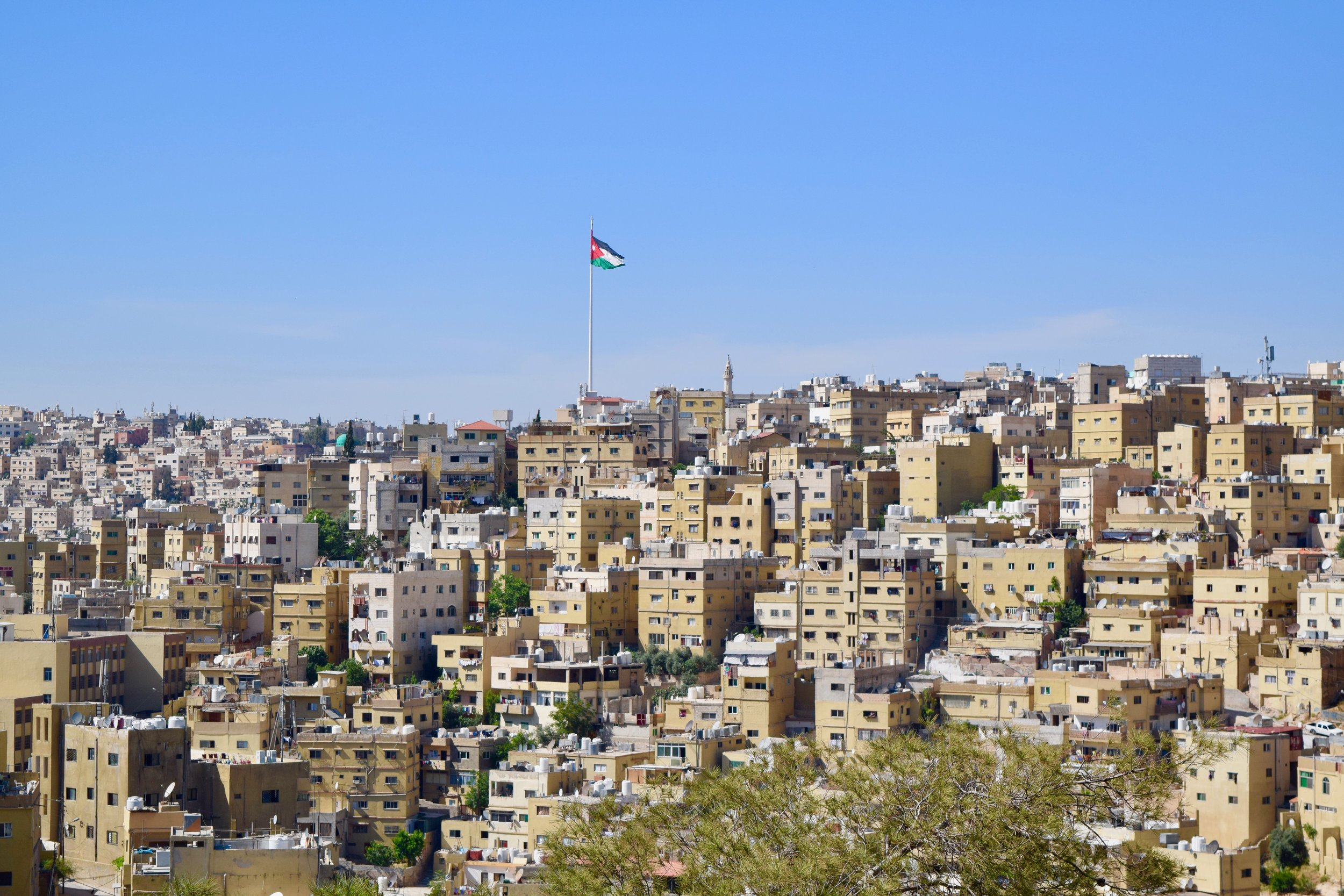 Giant Jordanian flag