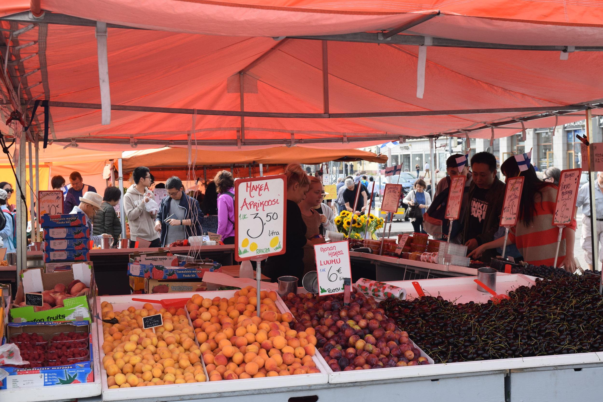 Puestos de fruta