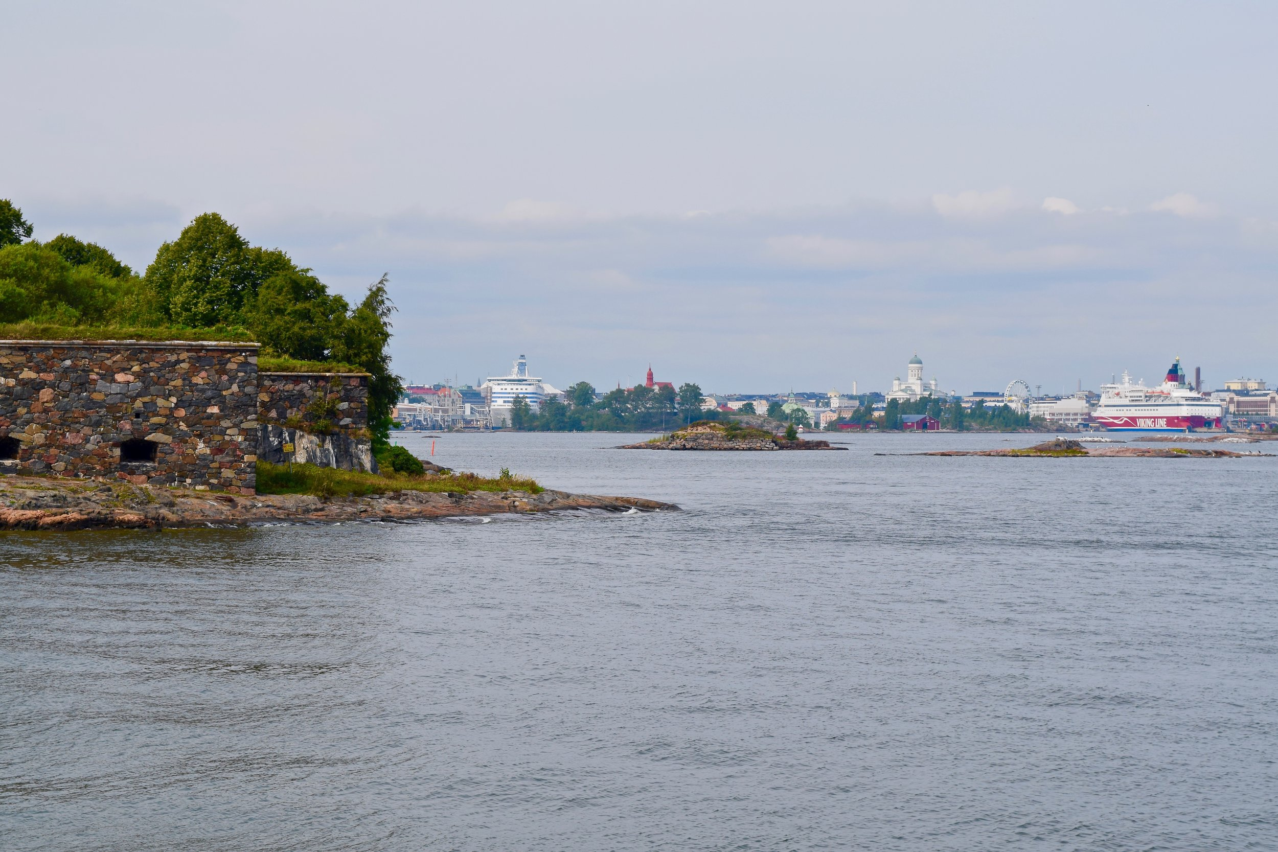View of Suomenlinna and Helsinki