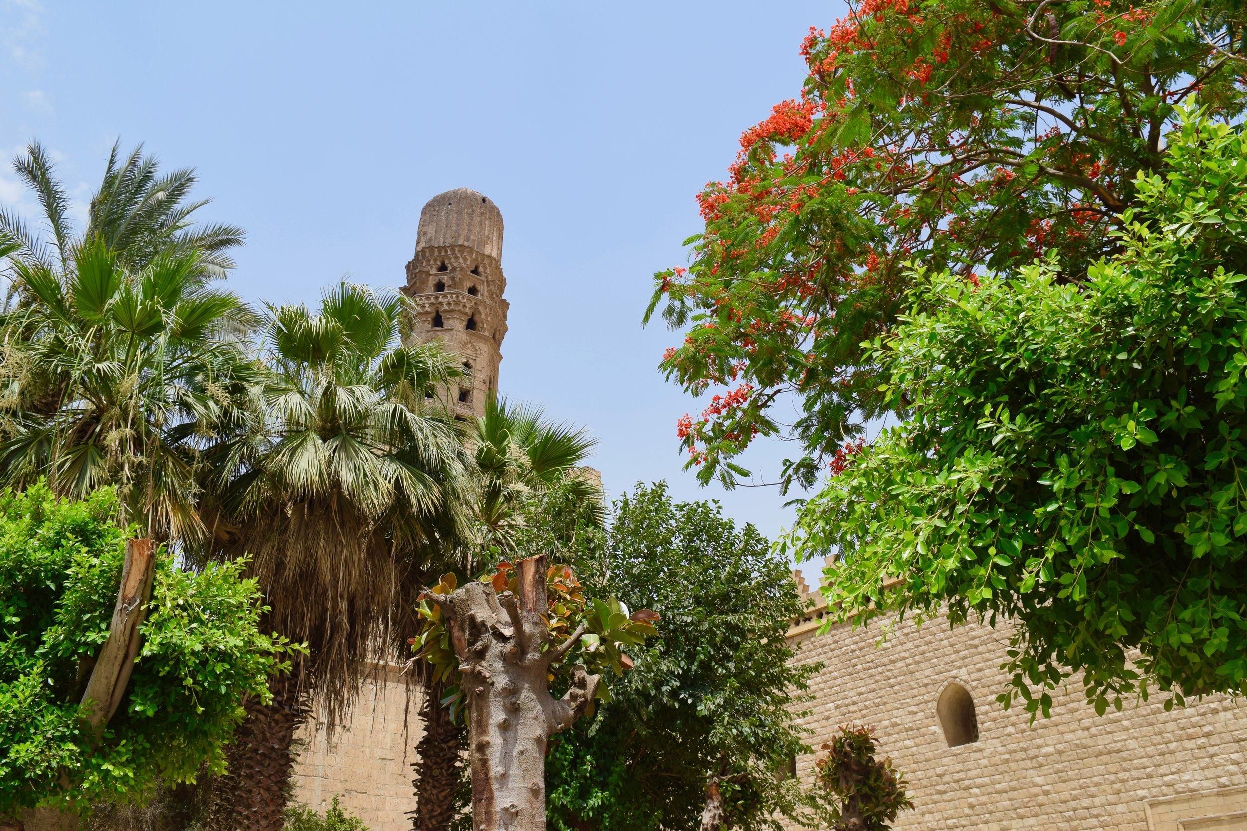Garden outside the mosque
