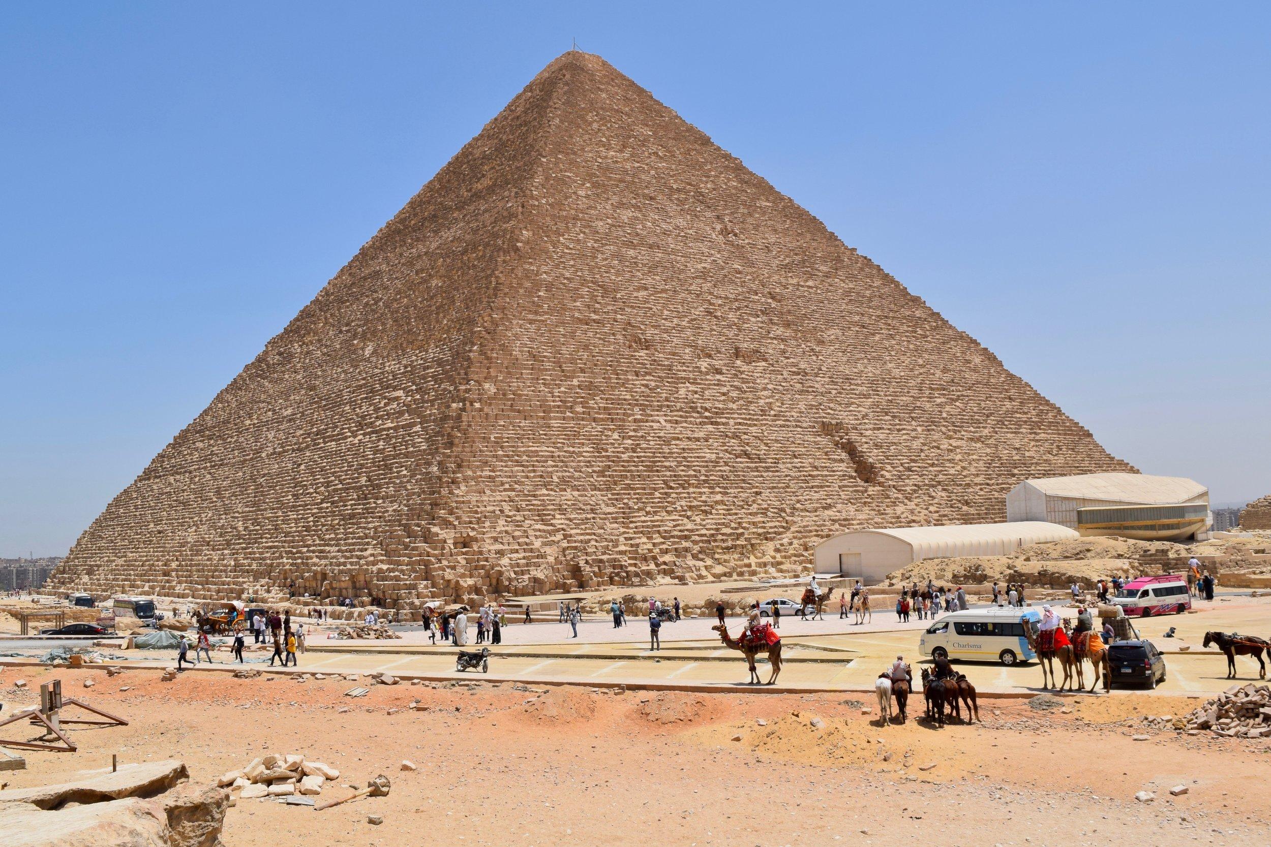 Tourists around the Great Pyramid