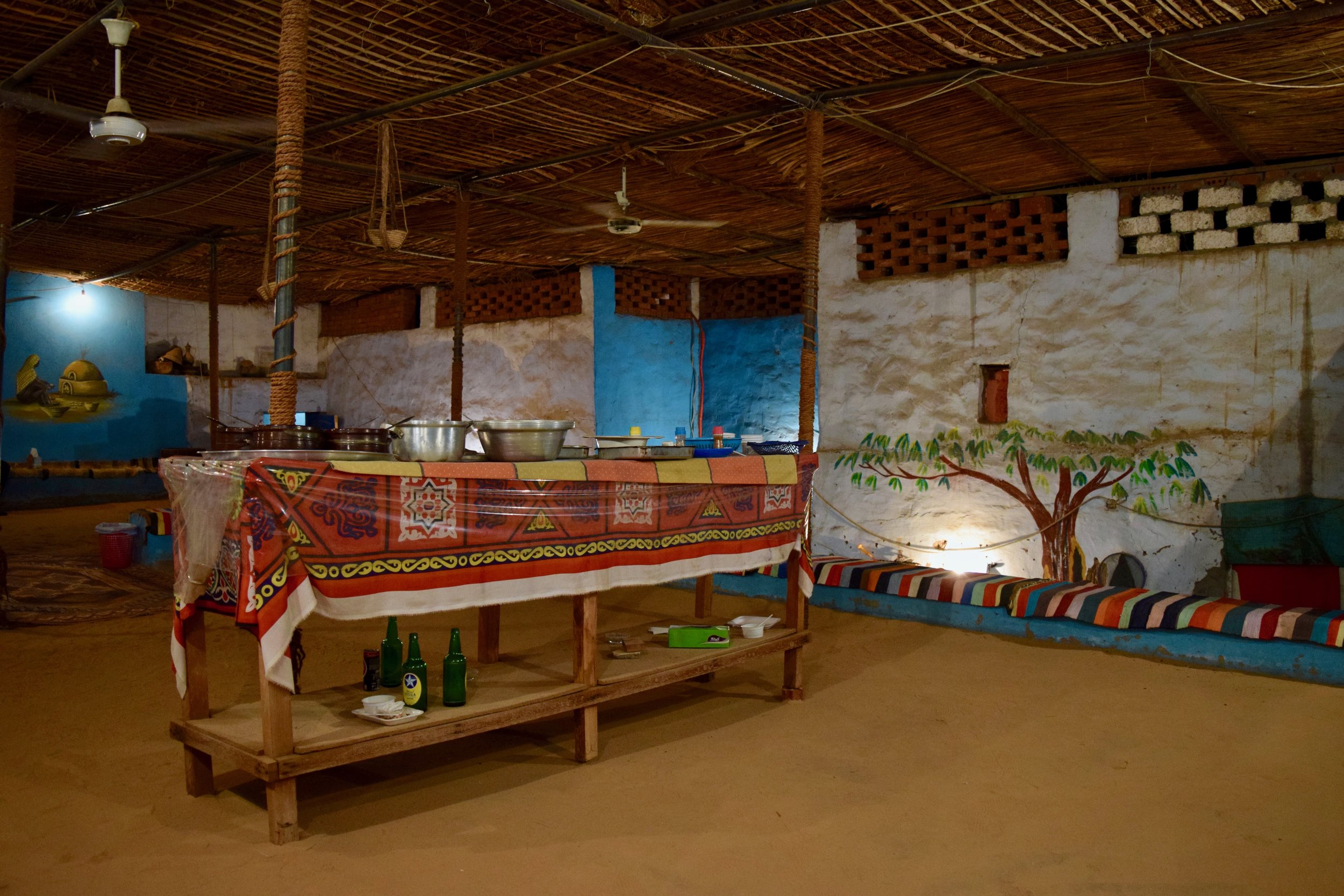 Nubian dinner in a traditional house