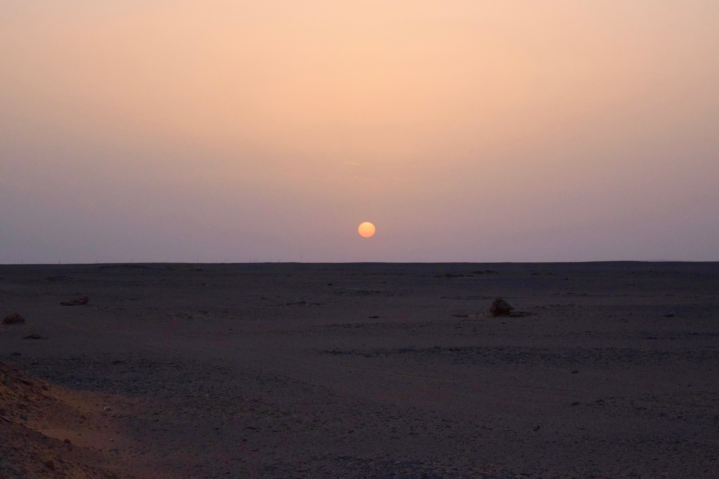 Sunrise on the way to Abu Simbel