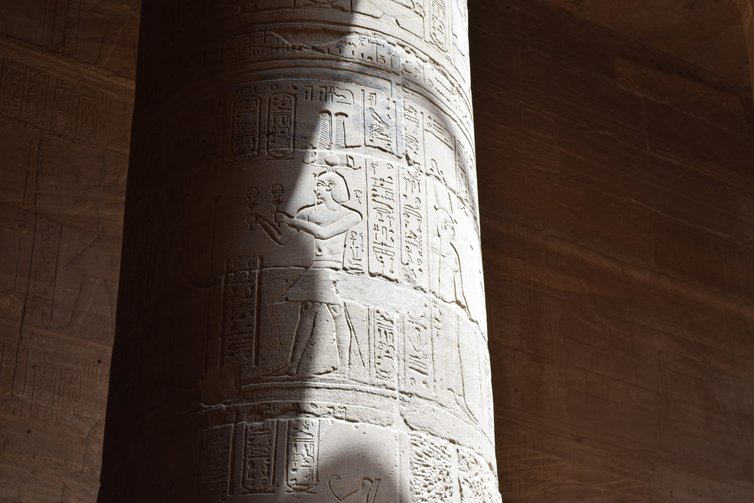 Inscriptions on the columns