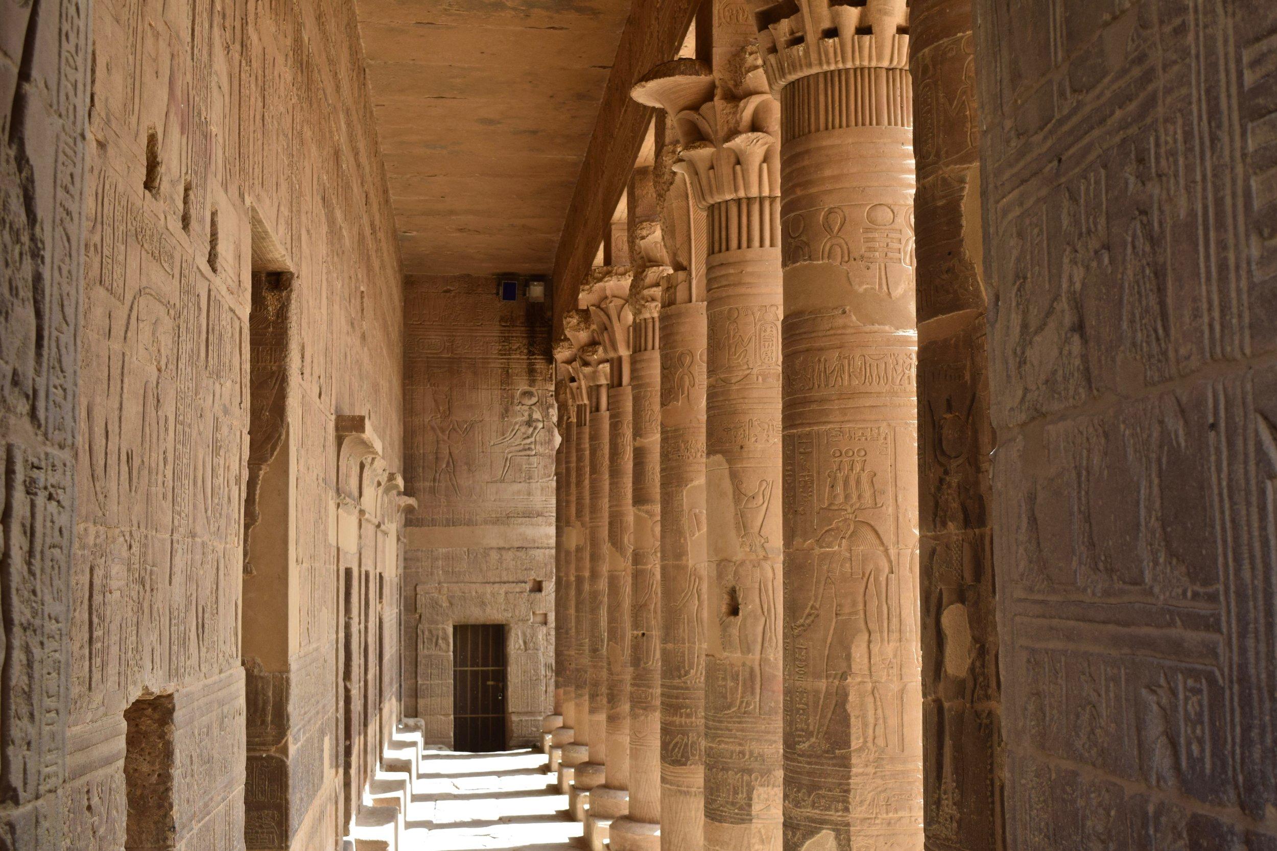 Carved columns