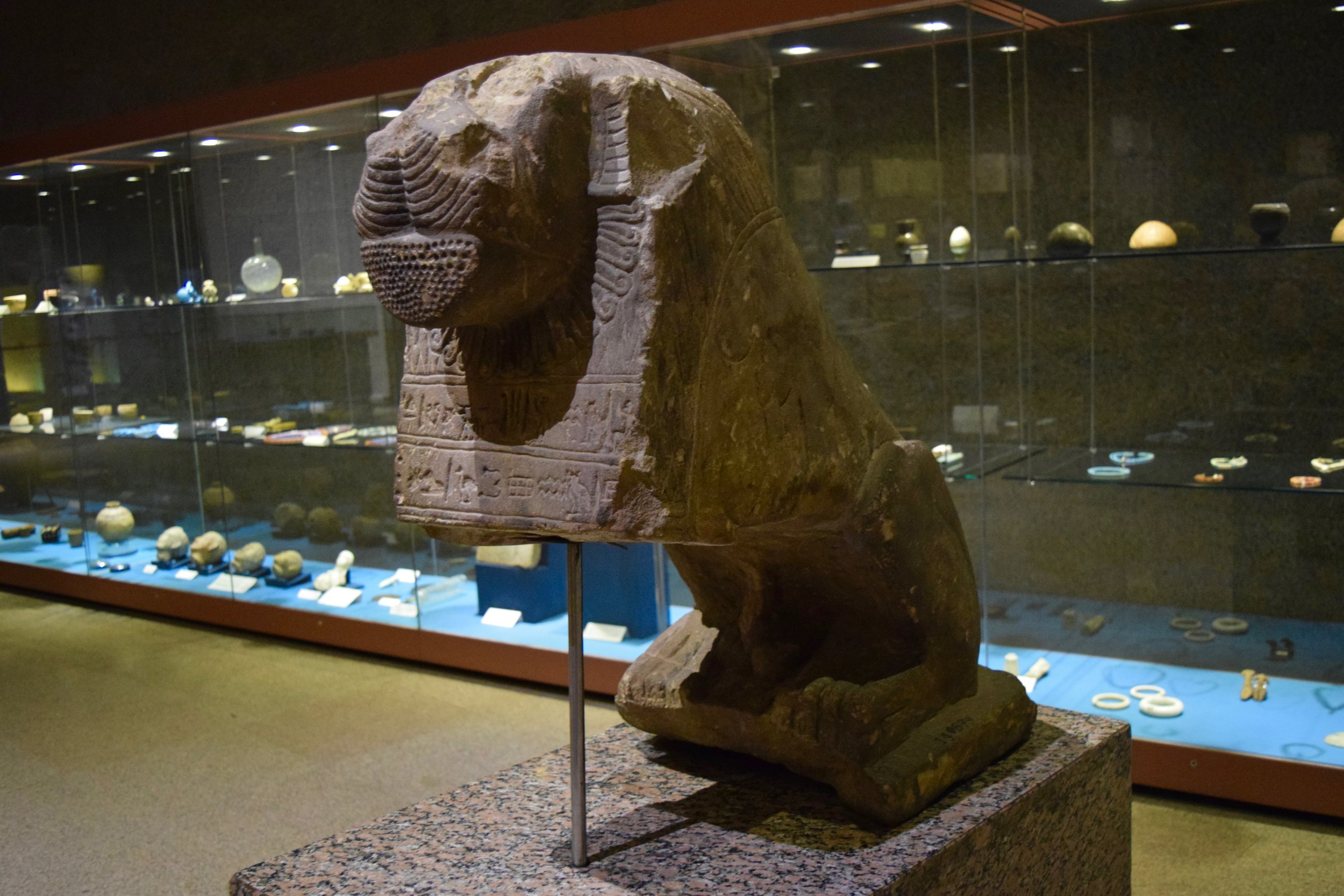 Statue of a lion from a fertility cult