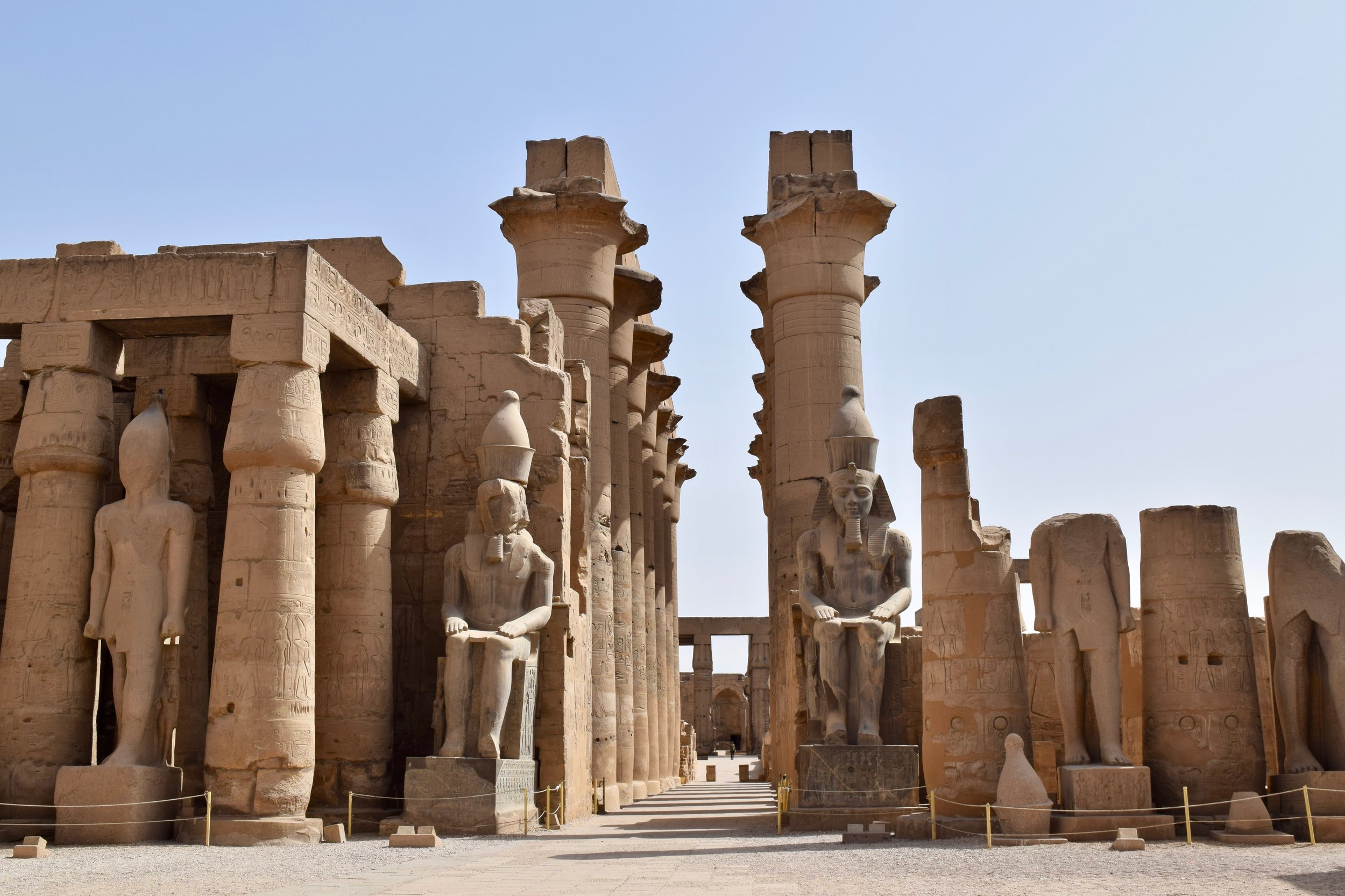 Seated statues of the Pharaoh