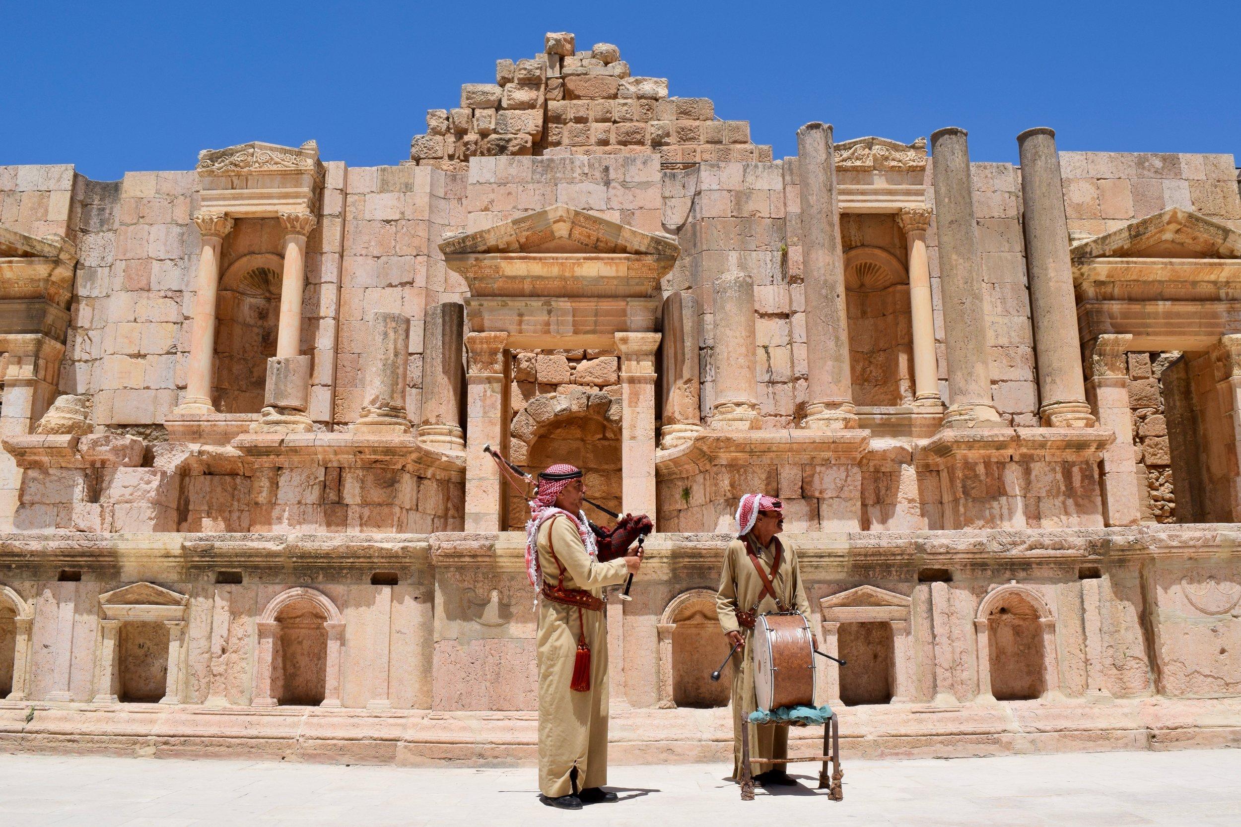 Musicians in Jerash Theatre